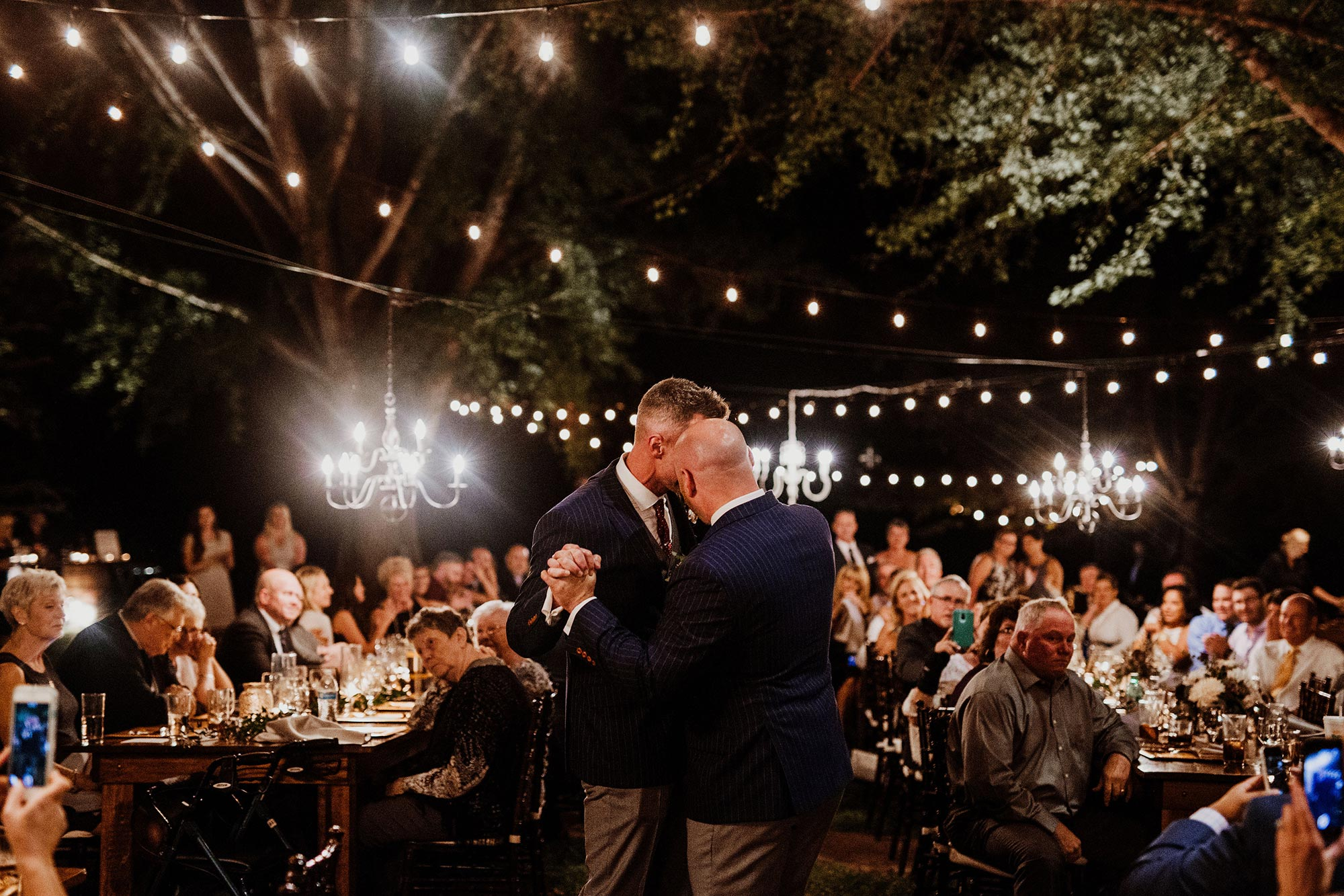 LGBTQ Louisville Kentucky Wedding at Hermitage Farm Crystal Ludwick Photo grooms dance