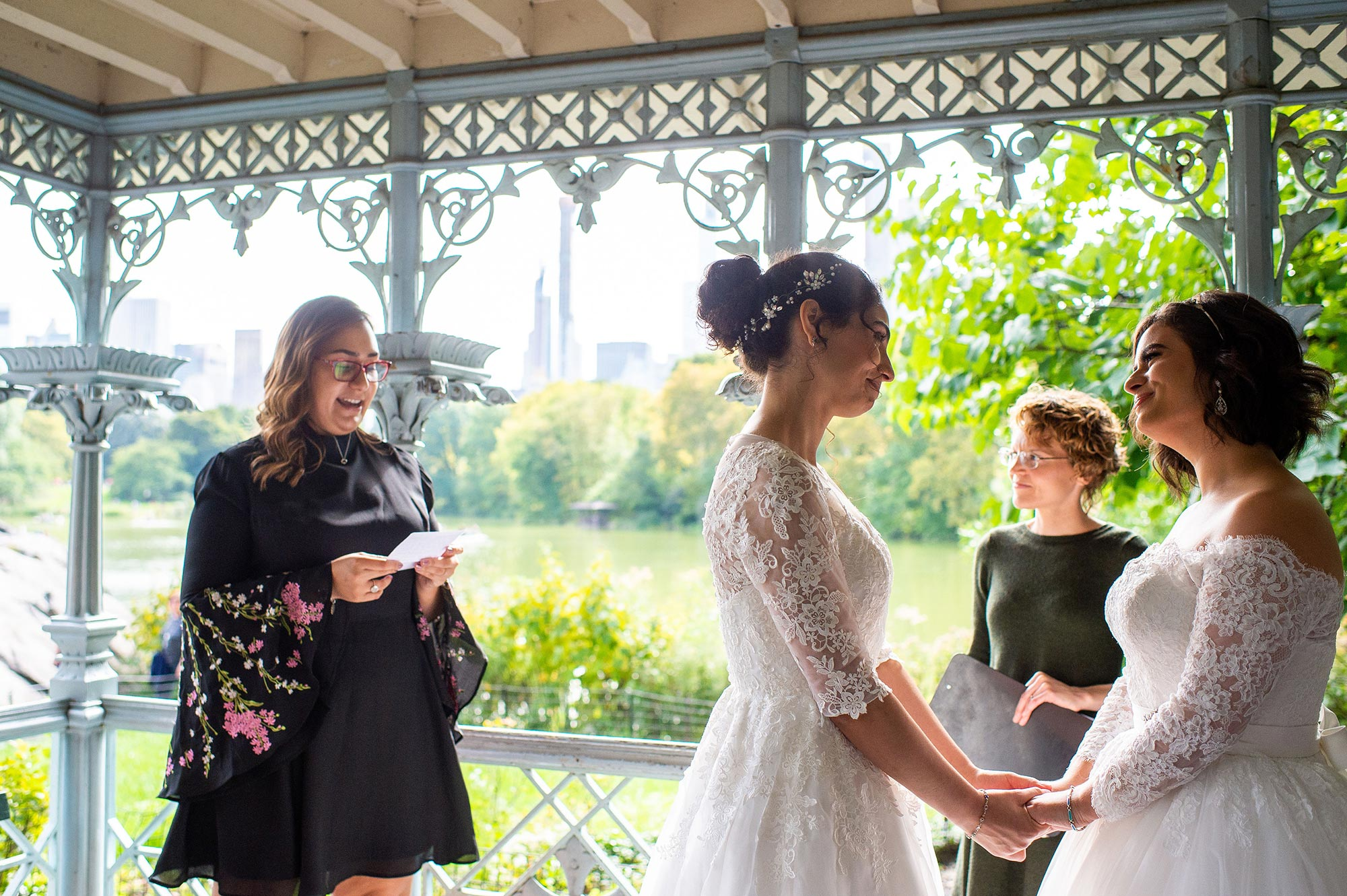 Wedding of Two Puerto Rican Brides at Ladies' Pavilion in Central Park New York City De Nueva Photography