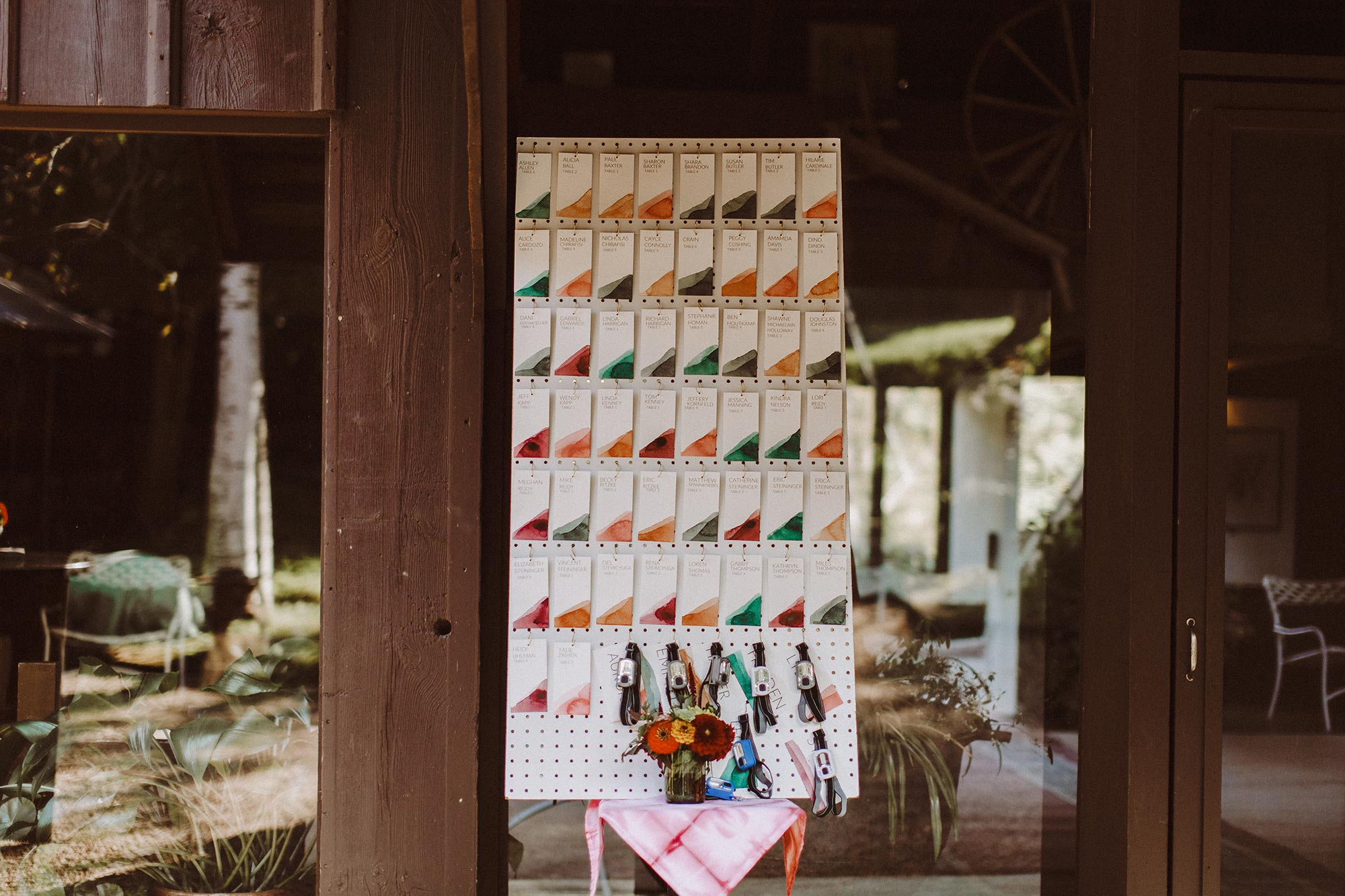 DIY summer camp wedding spring green wisconsin heidi uhlman photography guest table placement cards