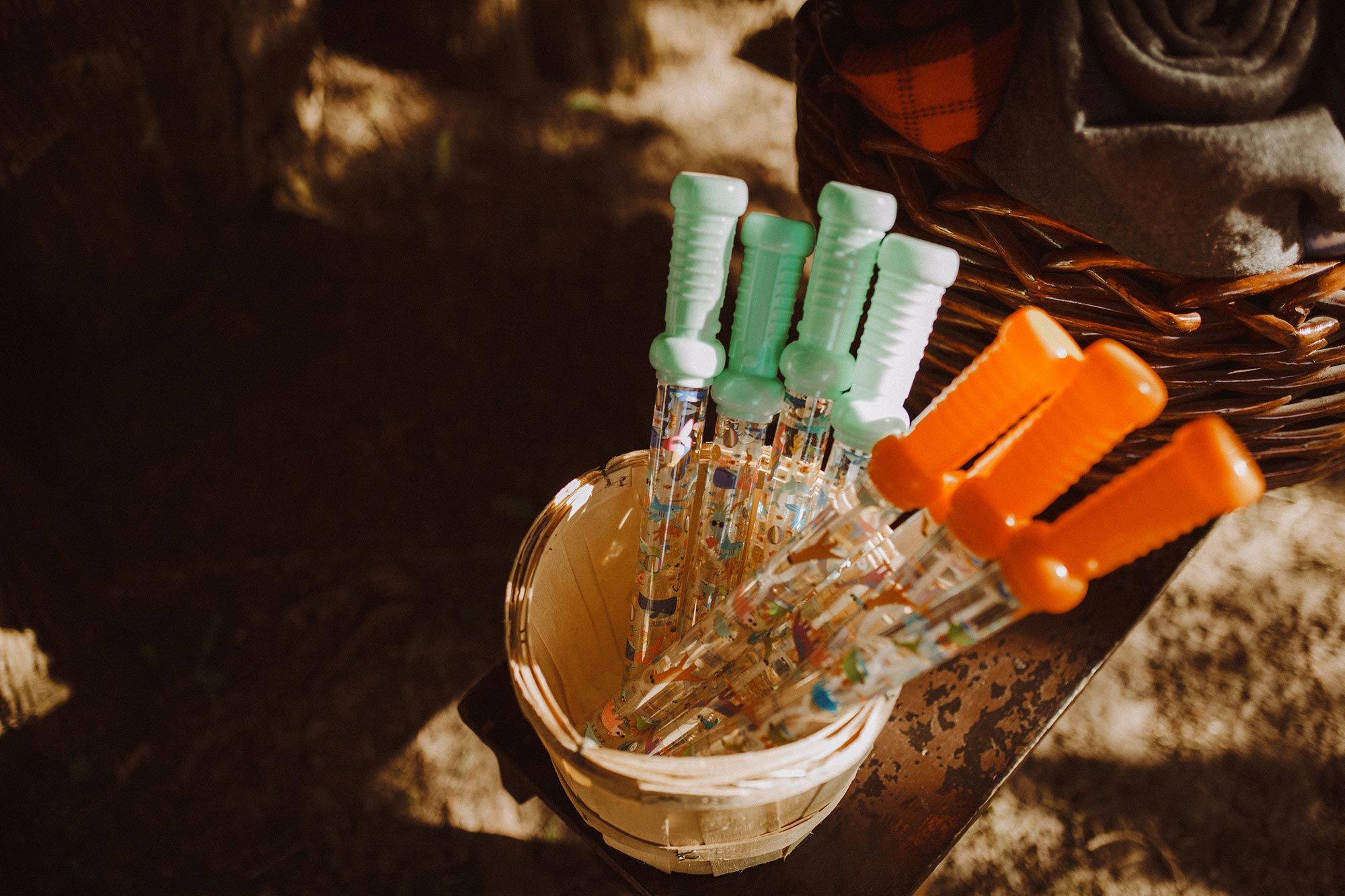 DIY summer camp wedding spring green wisconsin heidi uhlman photography bubble wands