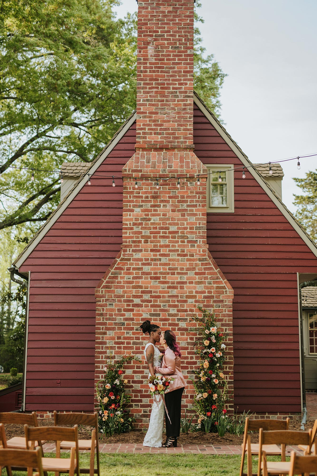 pink and green wedding inspiration styled shoot at Seven Springs VA Carly Romeo & Co.