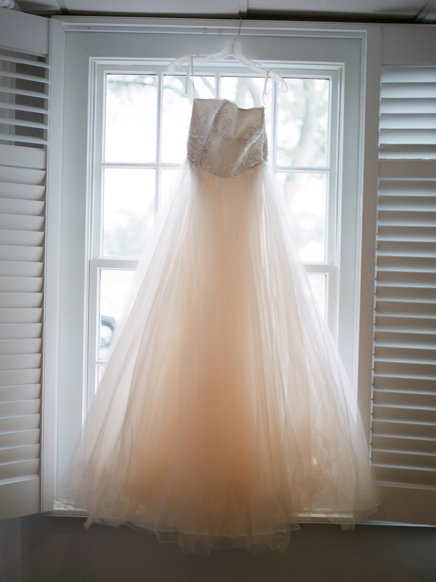 Chic Queer Wedding in West Chester Pennsylvania showing Sara's dress Judson Rappaport Photography