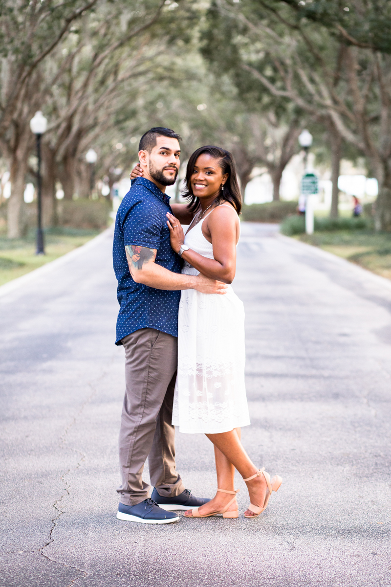 CYPRESS GROVE ENGAGEMENT SESSION CRYSTAL LILY PHOTOGRAPHY EMBRACE ON PARK PATH