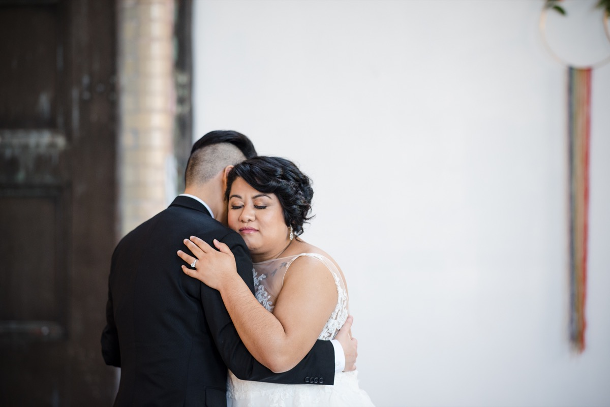 RAINBOW QUEER WEDDING INSPIRATION MICHELLE SCHAPIRO, DEANNA NAGLE, couple dancing