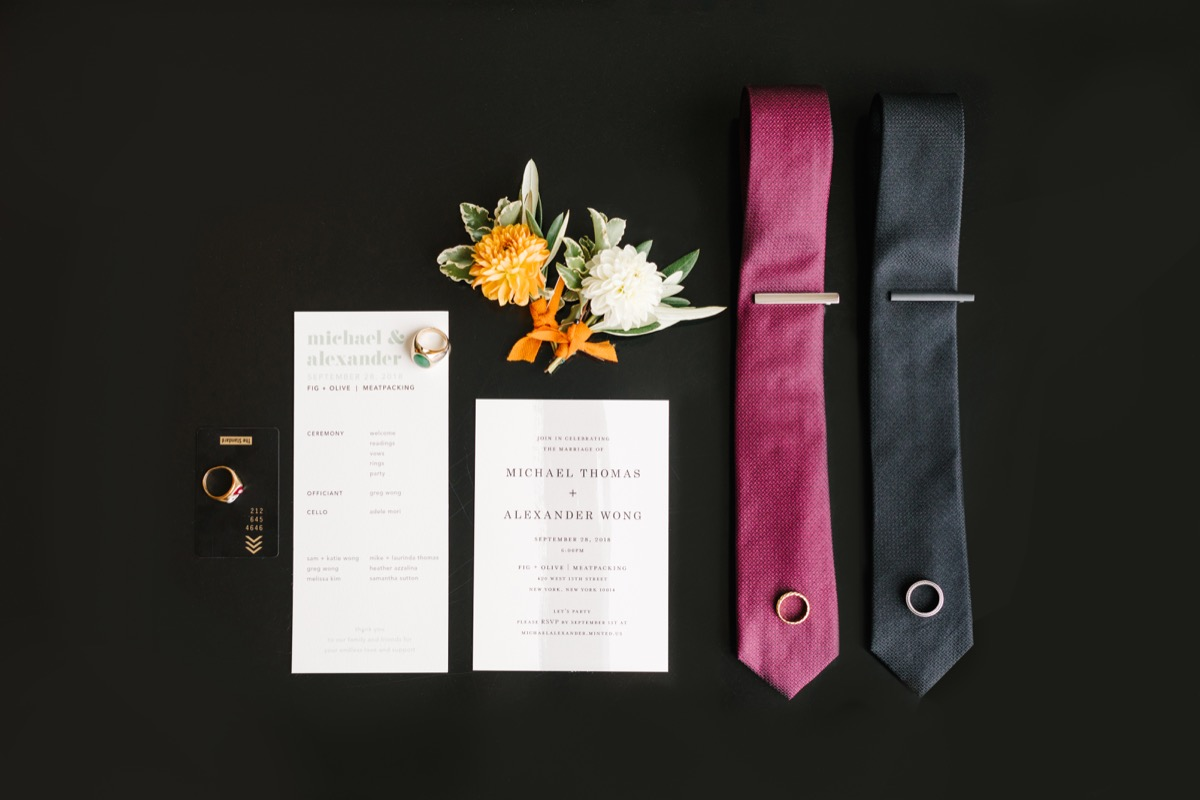 modern mediterranean wedding meatpacking district new york city rima brindamour photography accessories and invitations