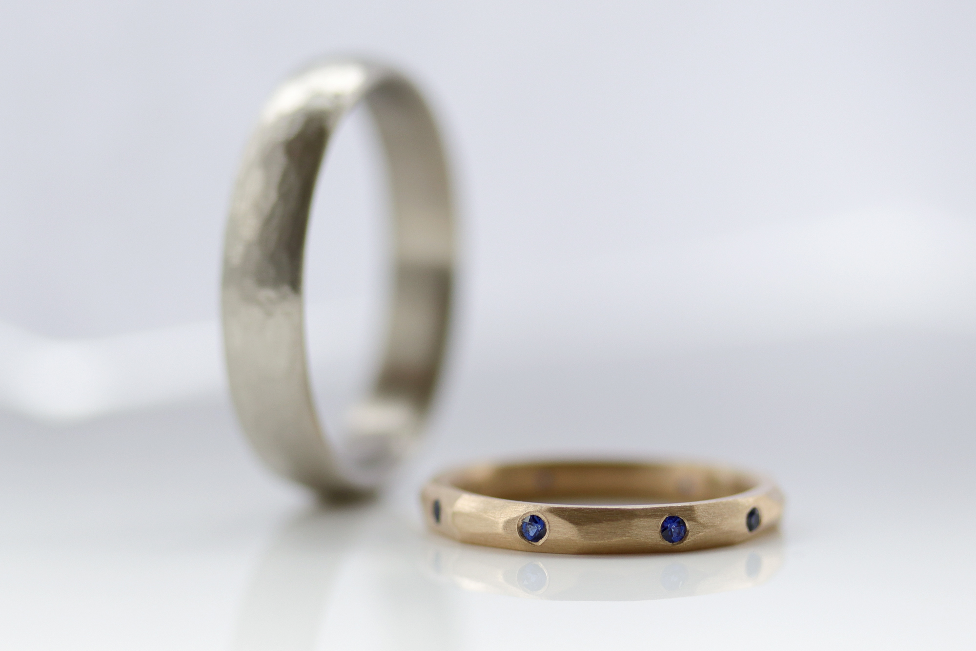 Handmade Wedding Bands by Aide-Memoire Jewelry