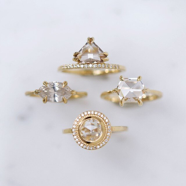 Diamond and Moissanite Wedding Engagement Rings by Valerie Madison Jewelry Seattle