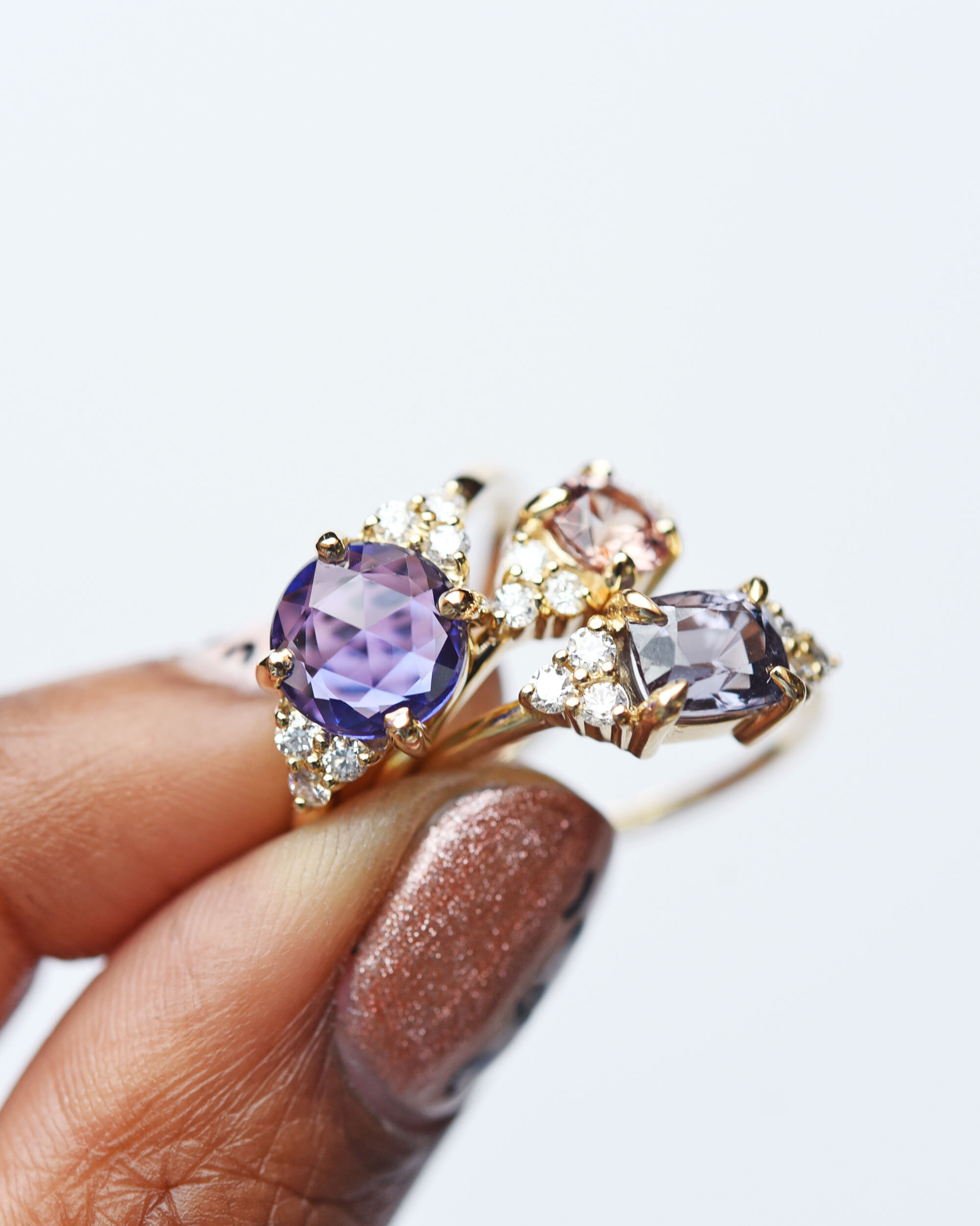 Gemstone and Diamond Wedding Engagement Rings by Valerie Madison Jewelry Seattle
