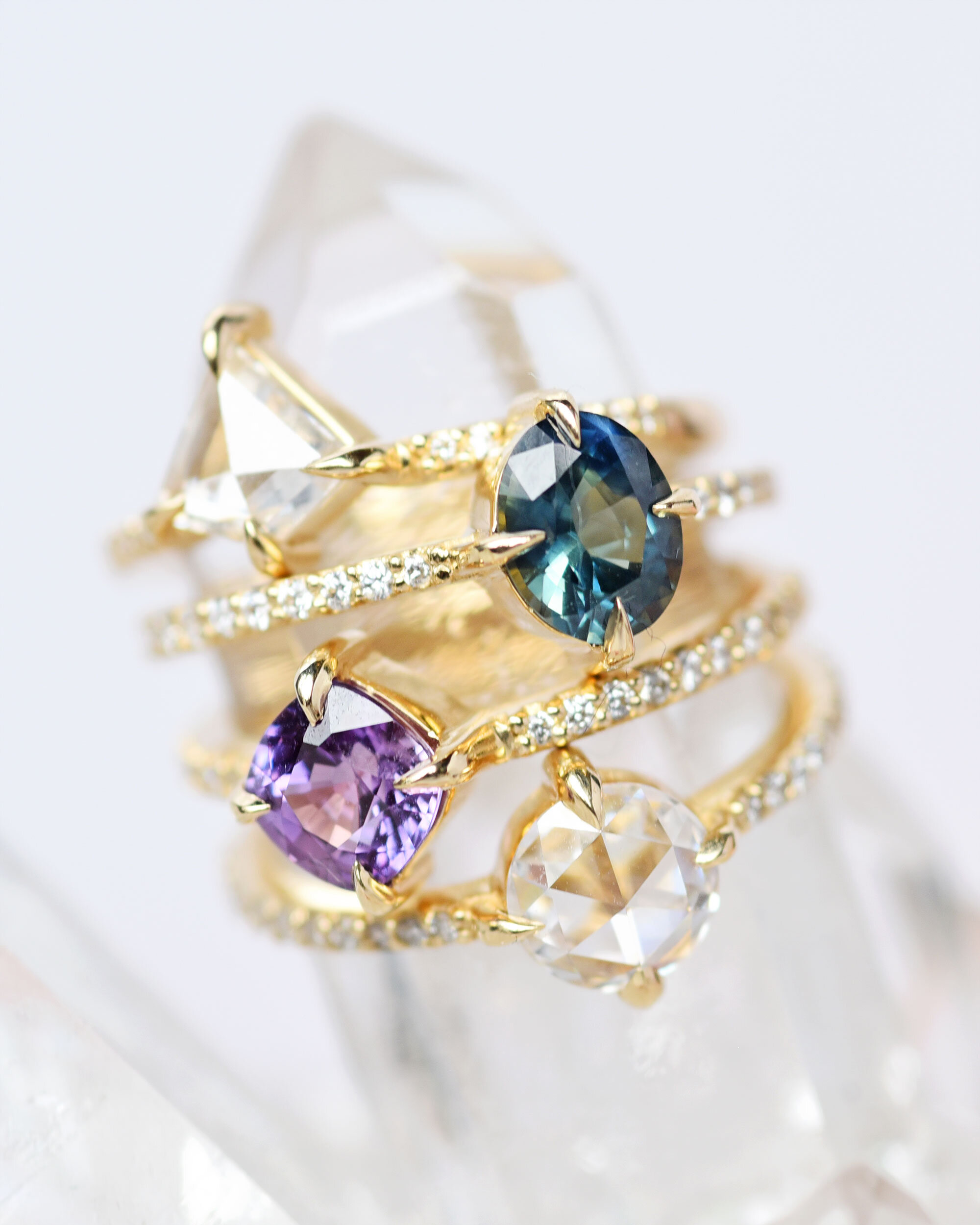 Diamond and Gemstone Wedding Engagement Rings by Valerie Madison Jewelry Seattle