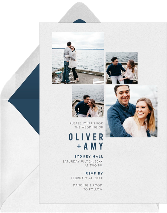 All the Photos Wedding Invitation by Claudia Owens