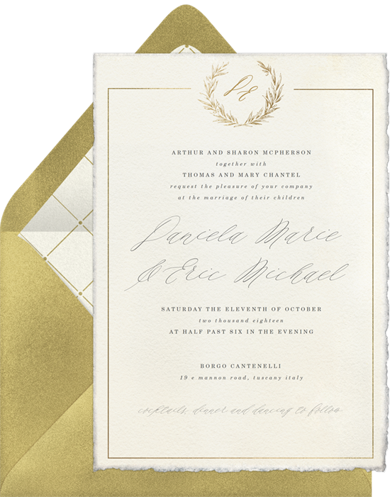 Timeless Elegance Wedding Invitation by Robinson Paperie