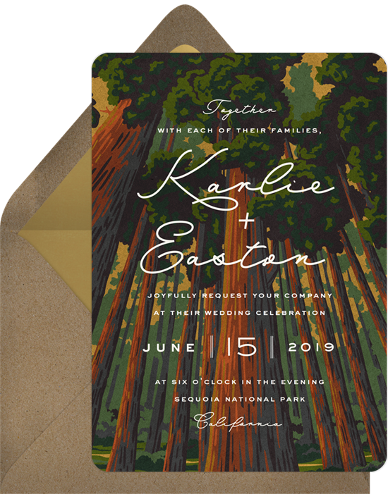 Soaring Sequoias Wedding Invitation by National Parks Foundation