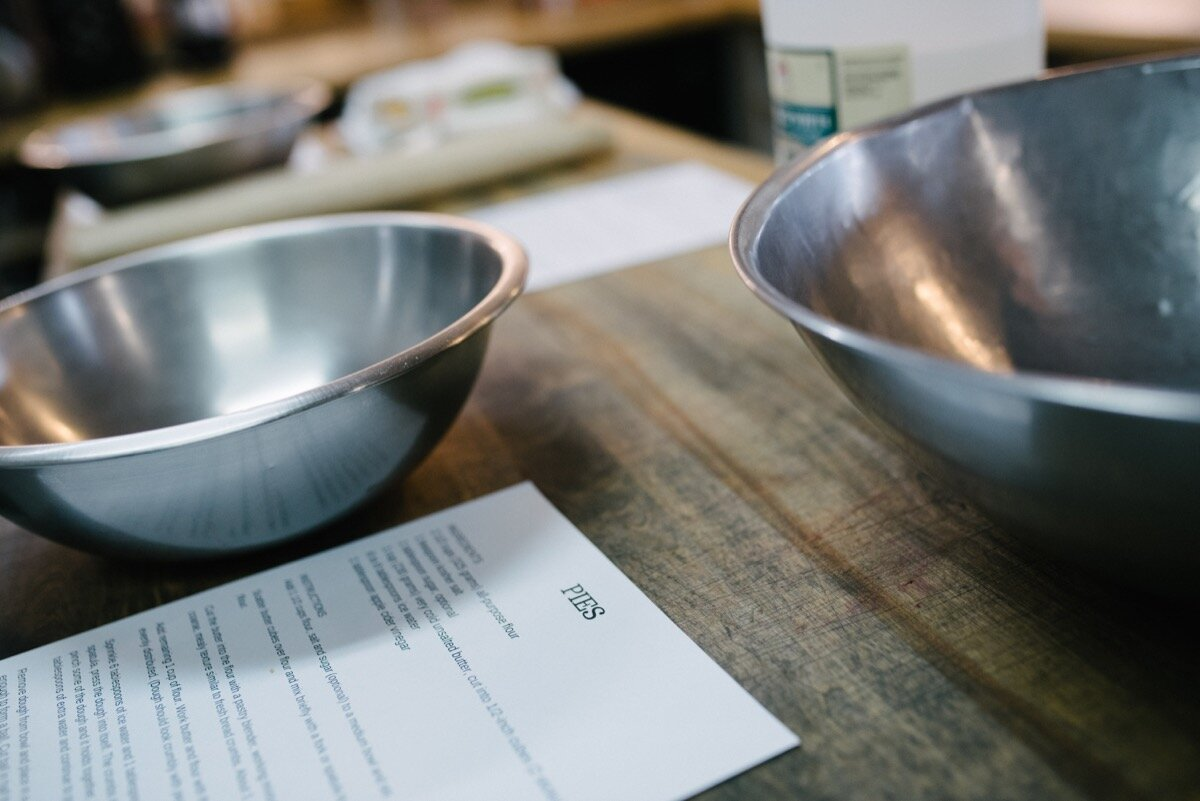 bowls and recipe at sugar bakeshop denver colorado before surprise proposal Friends and Lovers Photography