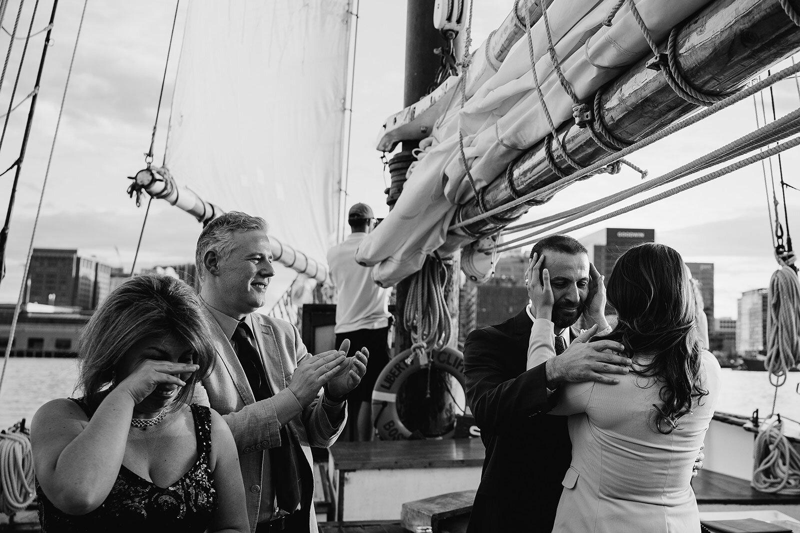 Unique wedding ceremony on a sailboat Rachel Epperly Film and Photo Portland Oregon