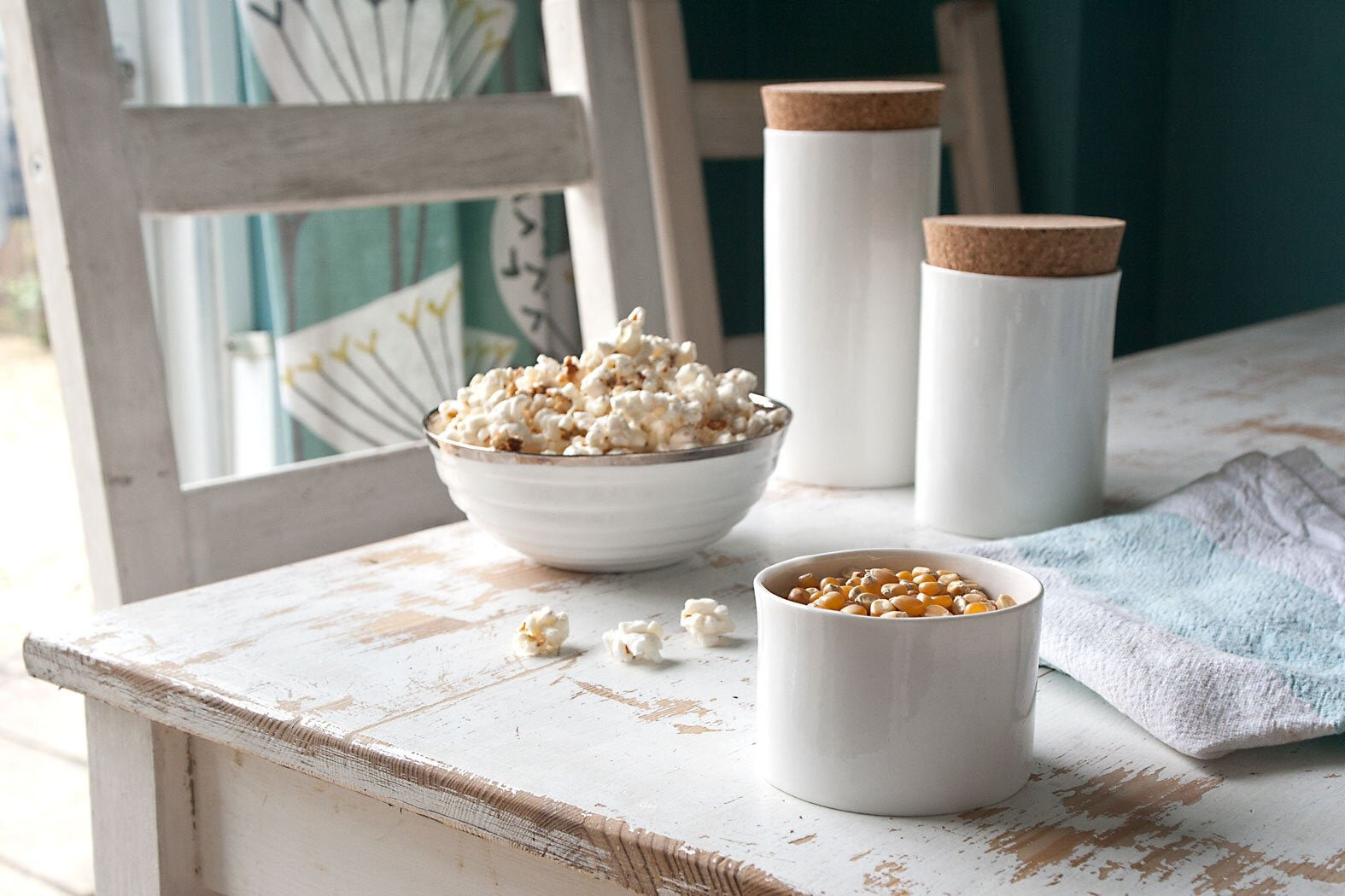 White Ceramic Kitchen Storage Containers by Kina Ceramics