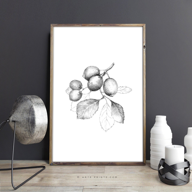Downloadable Lemon Drawing Wall Art by Arte Printe