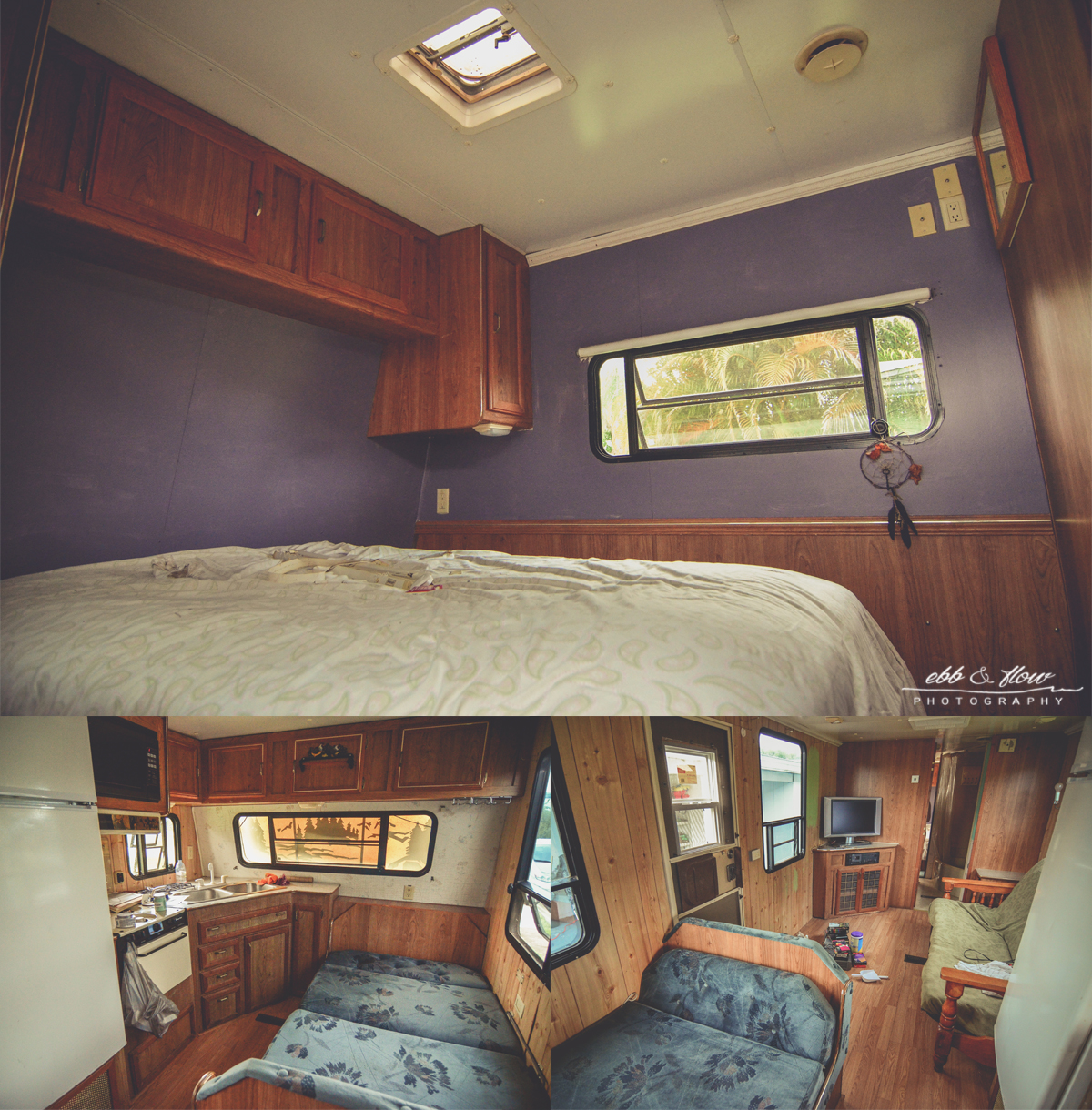 big enough to do yoga in the front room, this camper is spacious and will no doubt look amazing once she has added her touches