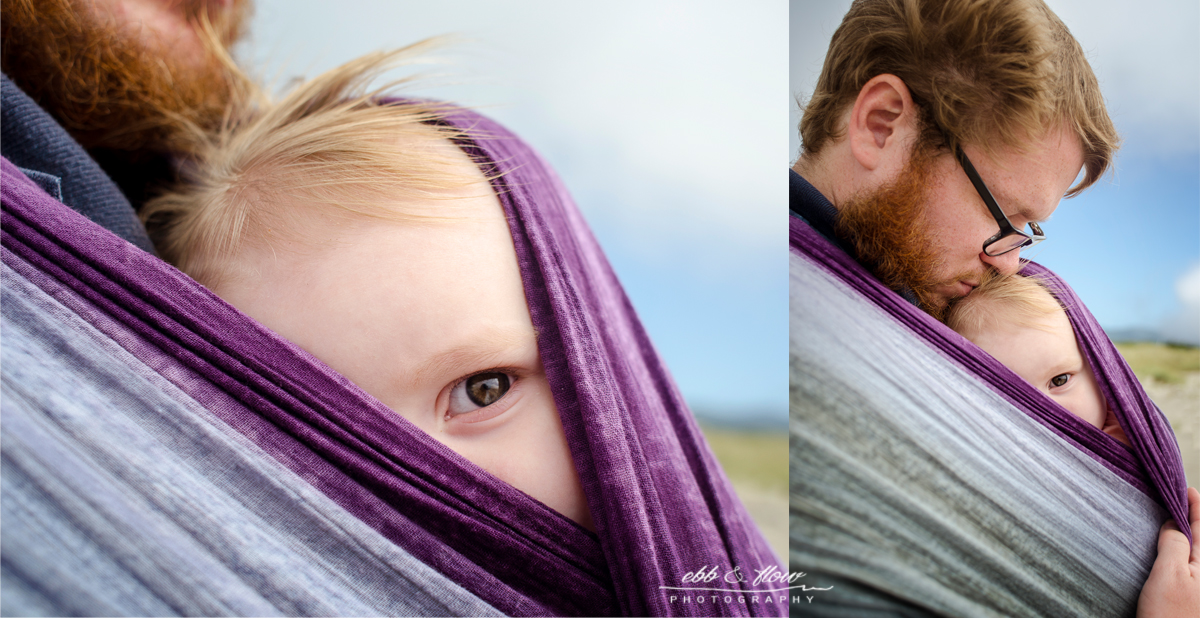 Wrapsody Lily - Oregon Coast - Babywearing Photography - Ebb and Flow Photography