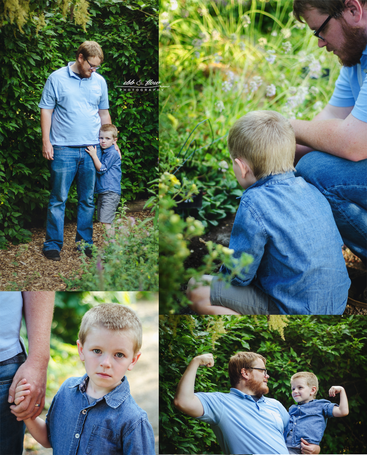 Botanical Garden Family Session - Ebb and Flow Photography
