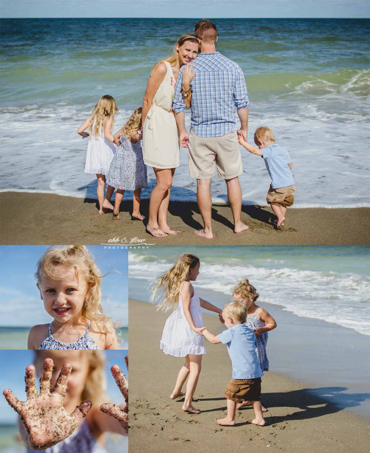 Treasure Coast Beach Family Photo Session // Ebb and Flow Photography