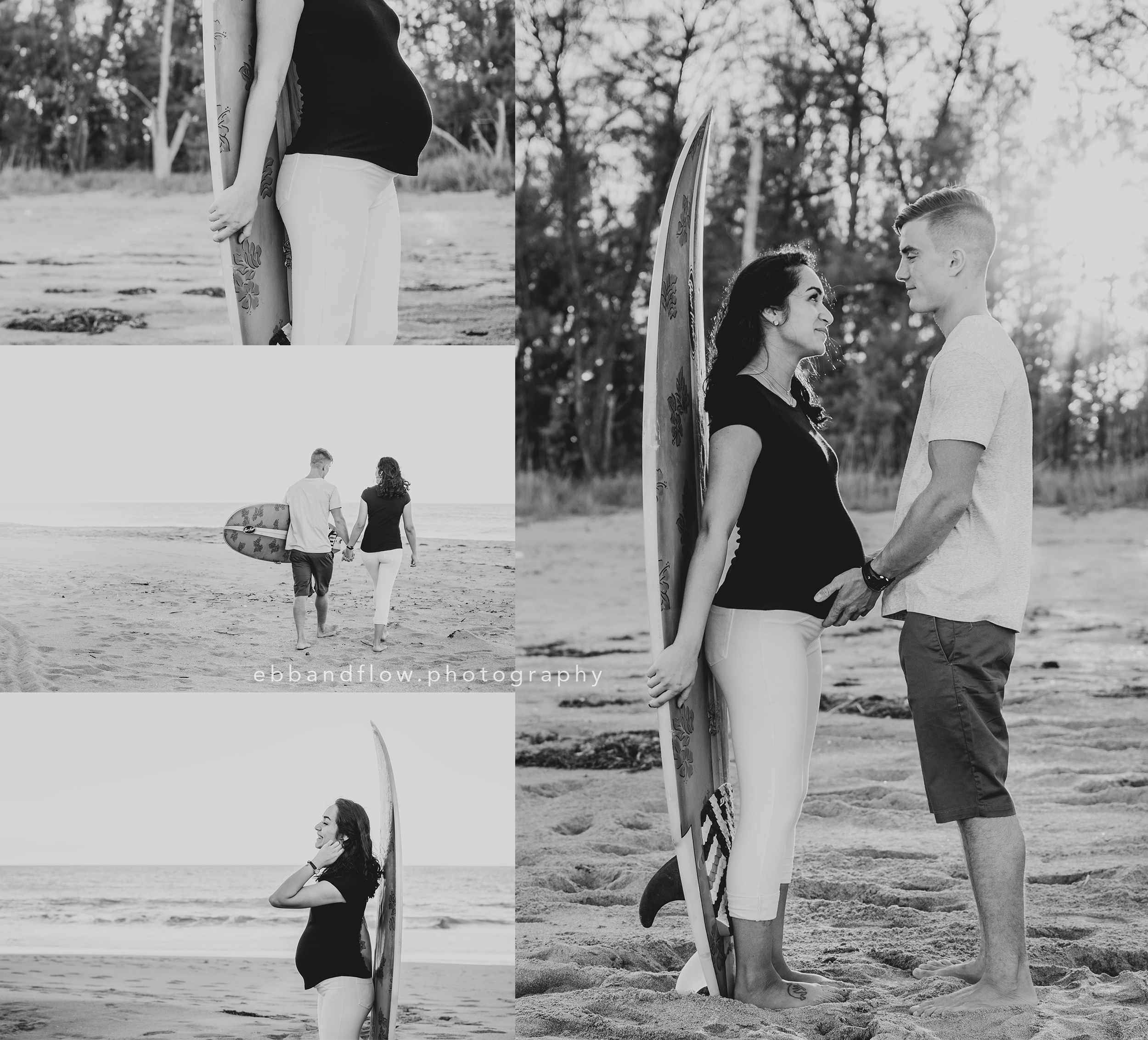 Romantic Beach Maternity Session - Ebb and Flow Photography - Treasure Coast maternity photographer