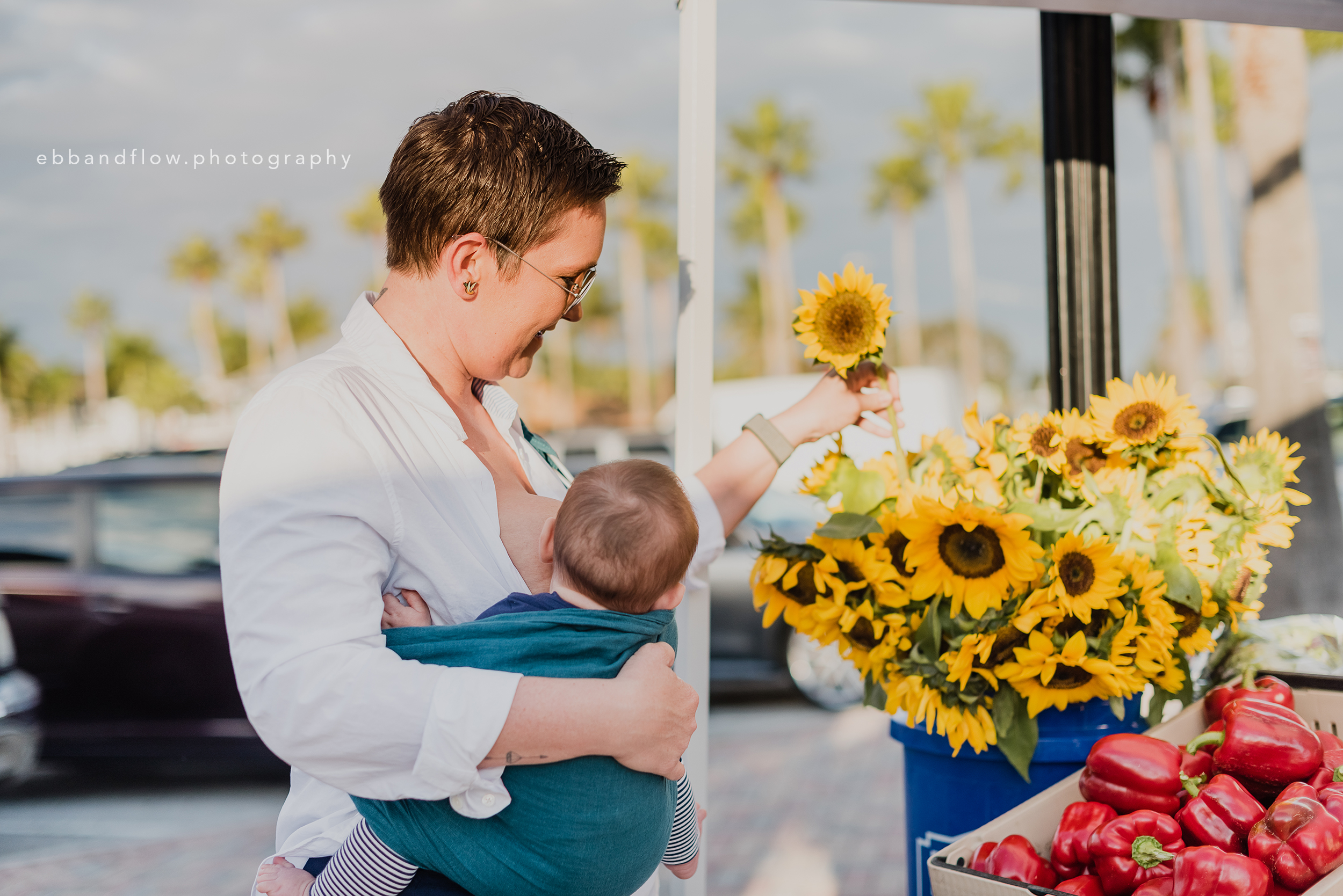 Fort Pierce Breastfeeding Photography - Ebb and Flow Photography -  Ring Sling at the Farmers Market.jpg
