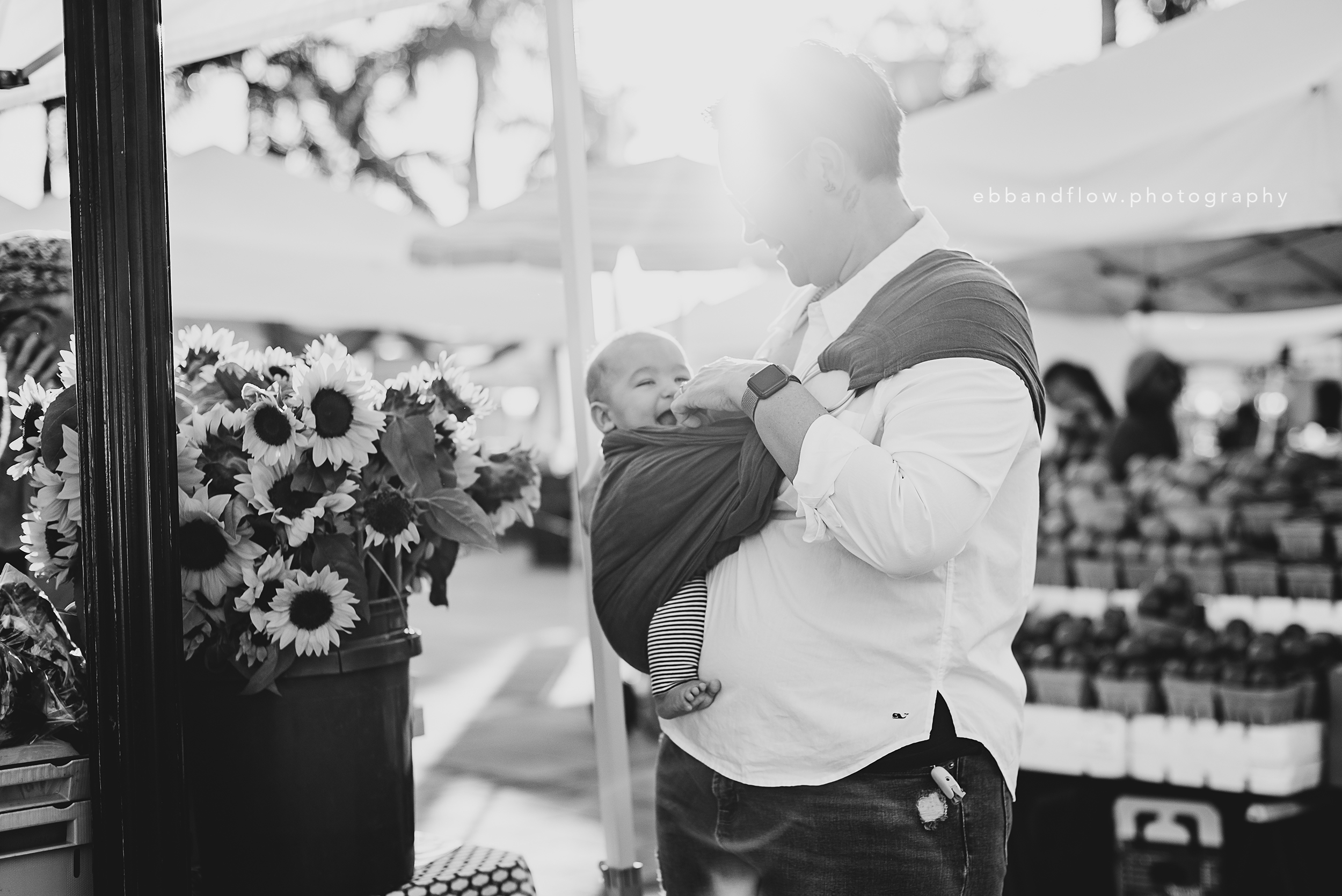 Fort Pierce Breastfeeding Photography - Ebb and Flow Photography -  Ring Sling sunrise at farmers market.jpg