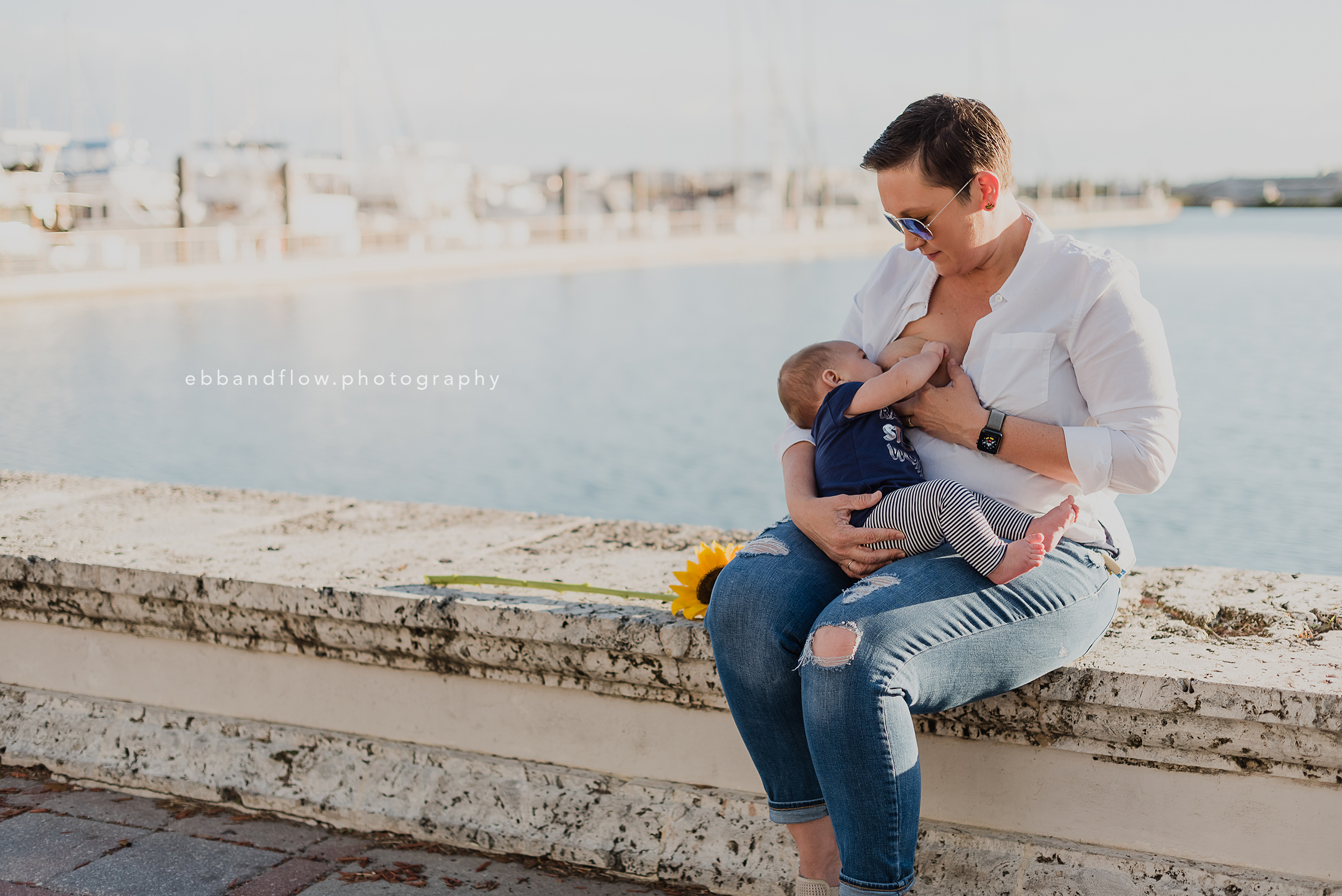 Fort Pierce Breastfeeding Photography - Ebb and Flow Photography -  breastfeeding by the water.jpg