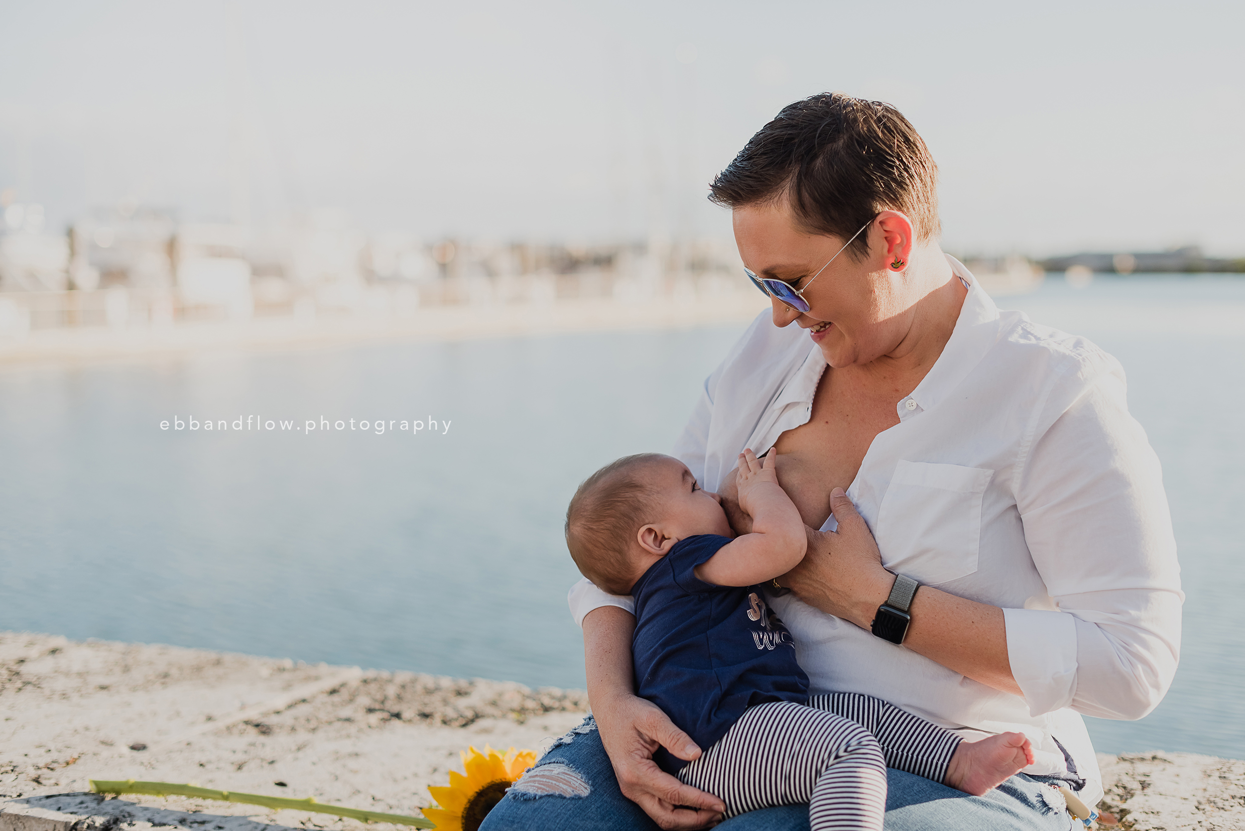 Fort Pierce Breastfeeding Photography - Ebb and Flow Photography -  breastfeeding by the marina.jpg