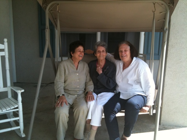 Anne Bogart and I visiting with Maria Irene Fornes