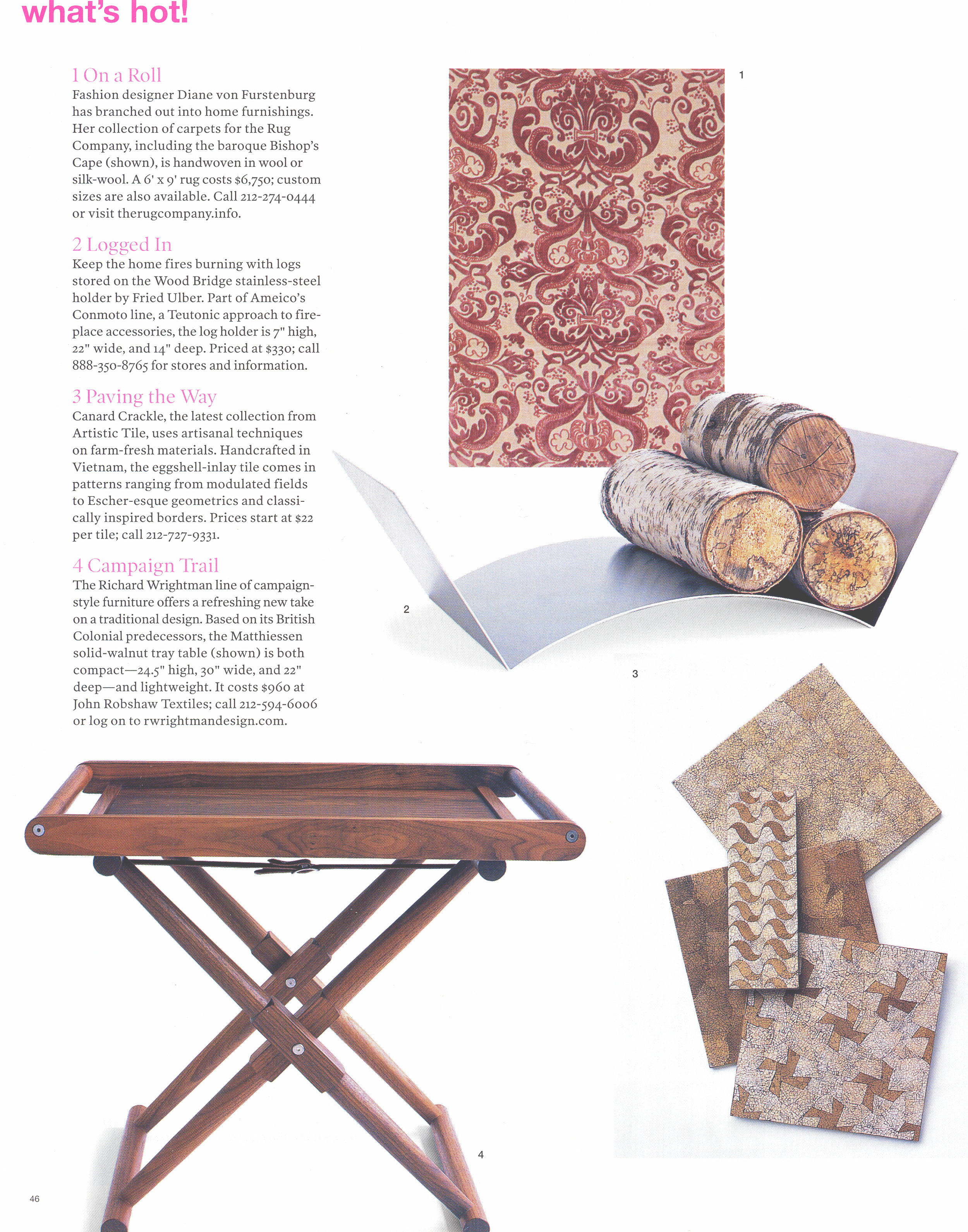 See:  Matthiessen Tray Table
