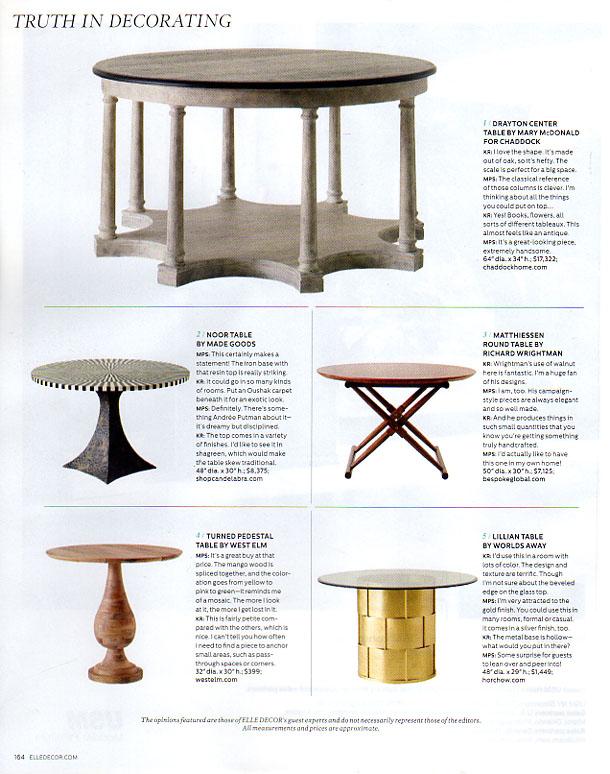 See:  Matthiessen Round Table