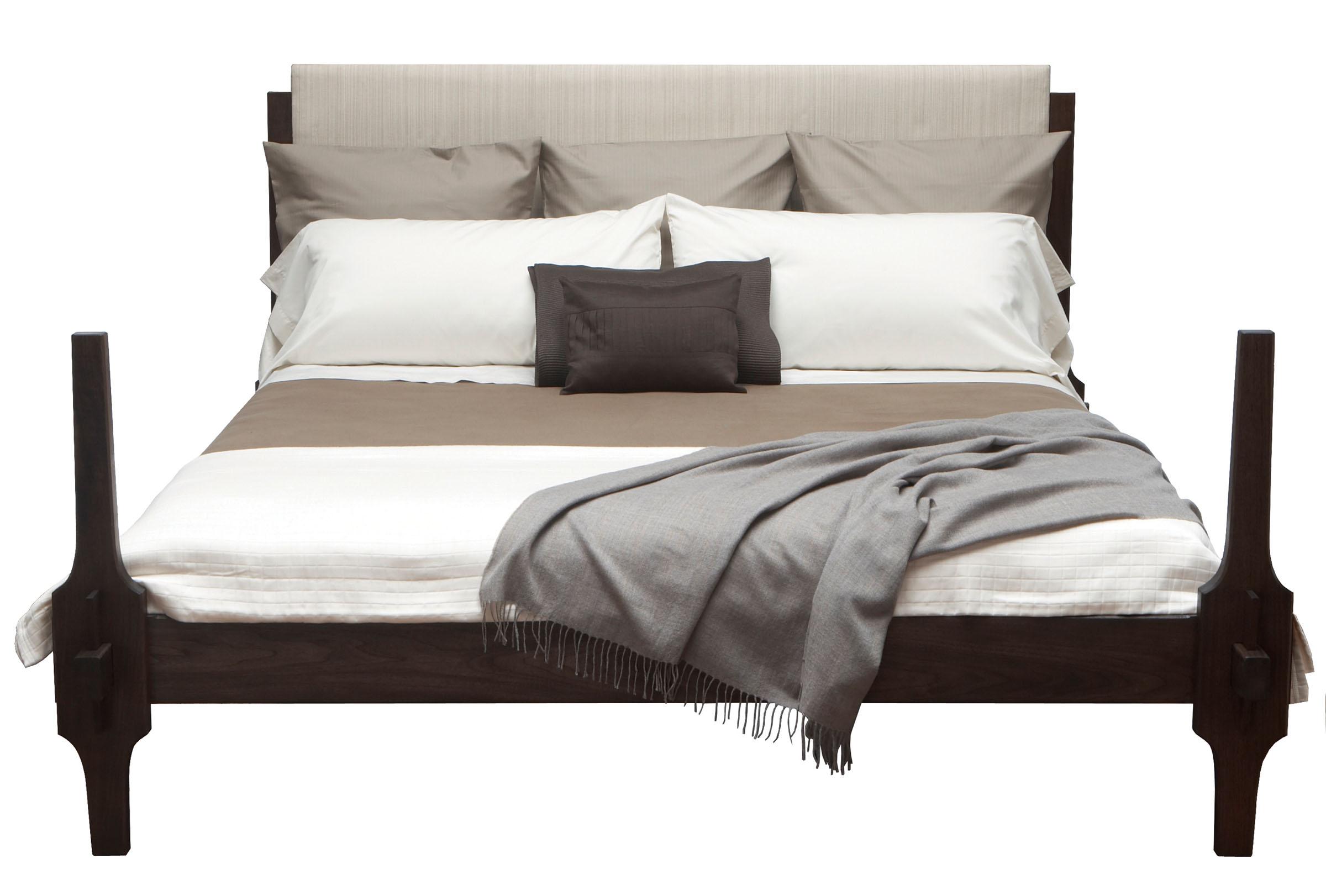 Greydon bed in walnut - maccassar stain