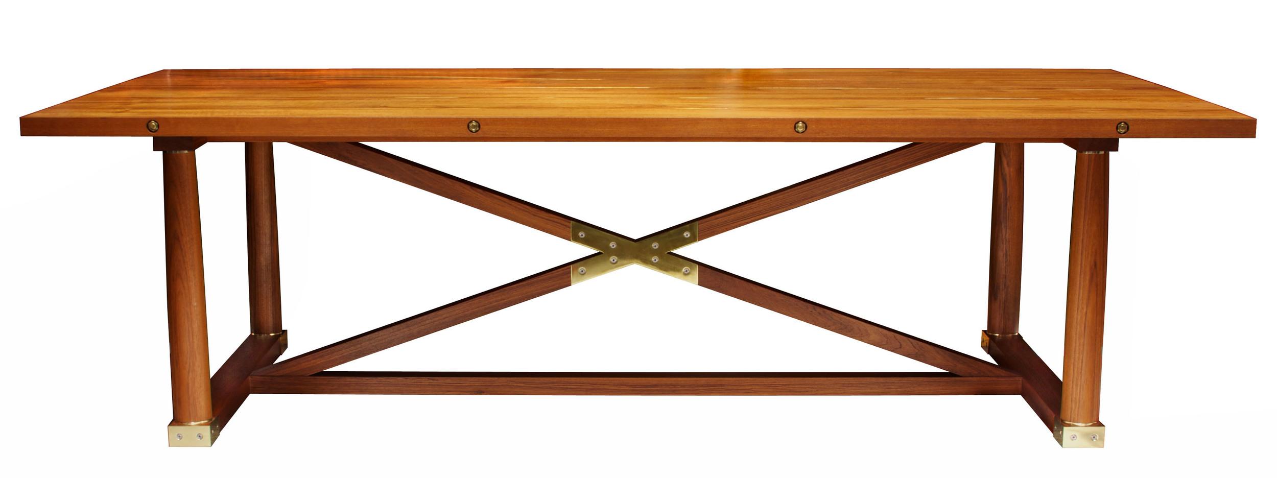 Carden Table in teak - oiled for indoor