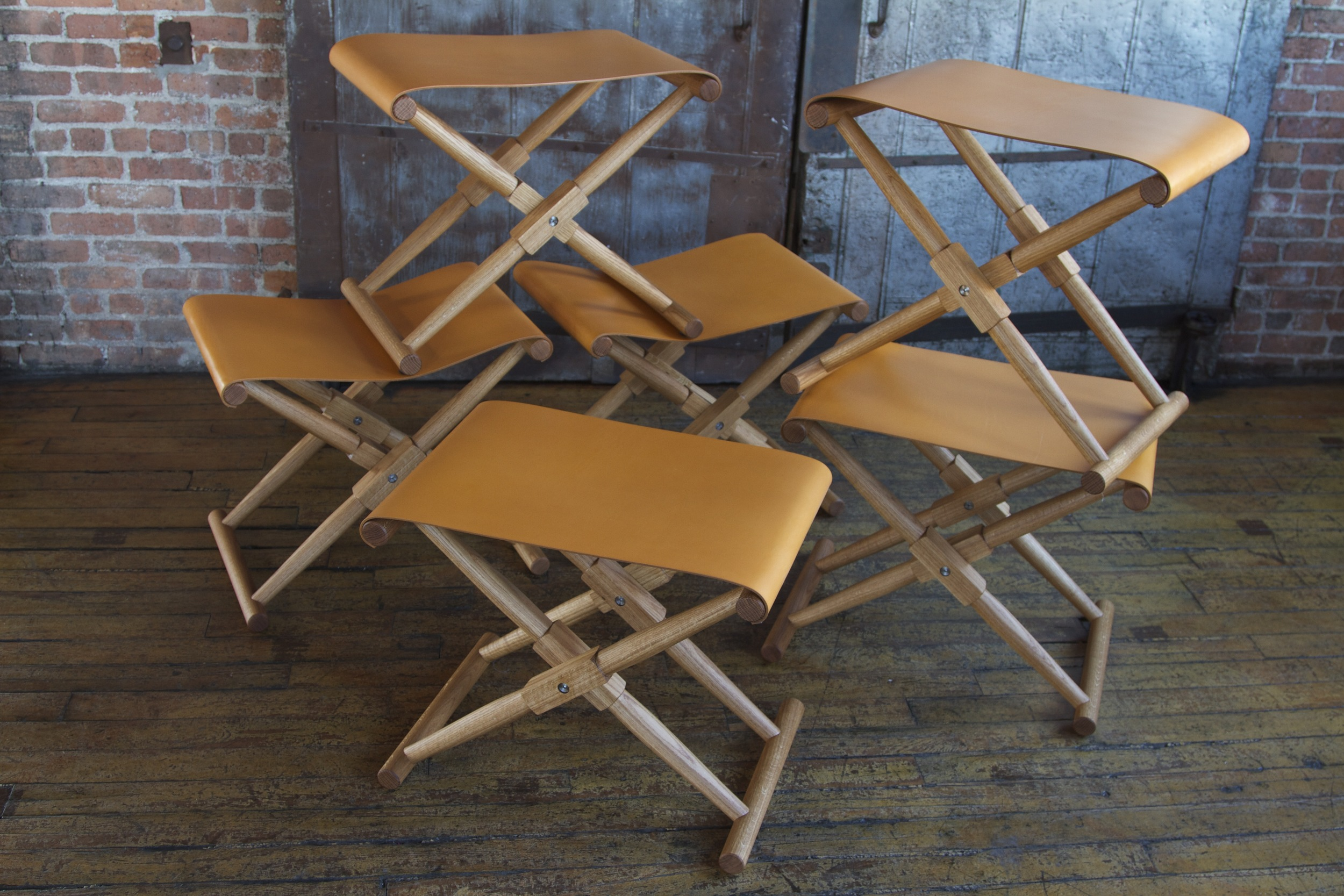 Matthiessen Stools with coach seats
