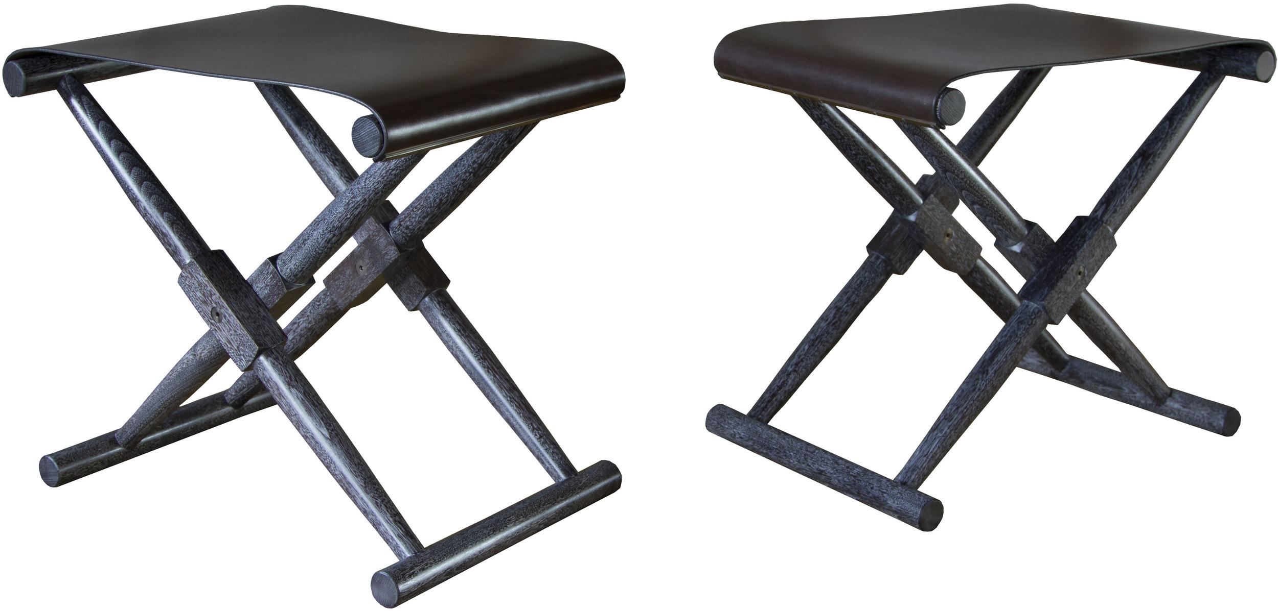 Matthiessen Stools with dark chocolate seats