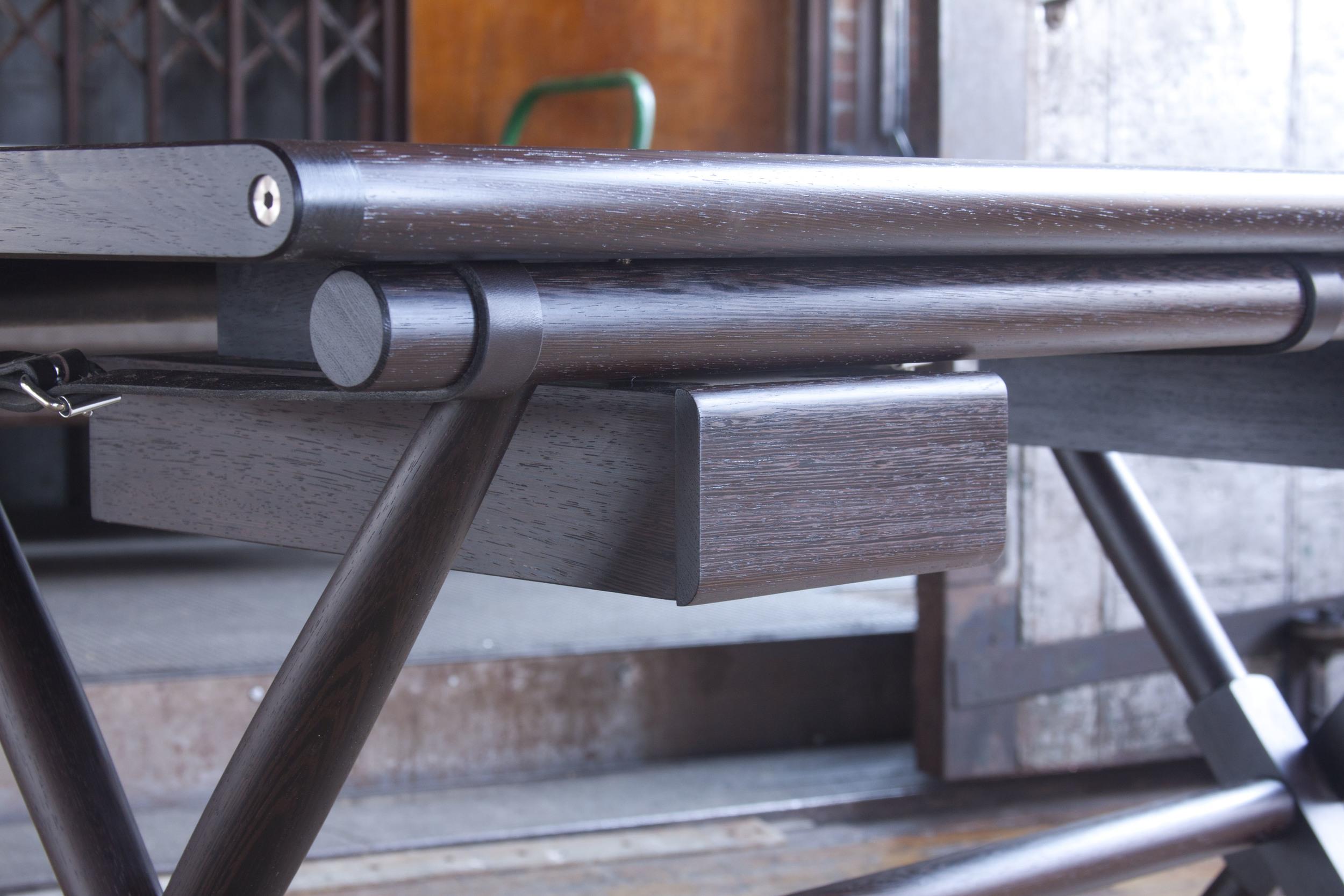 Matthiessen Desk with dark chocolate straps
