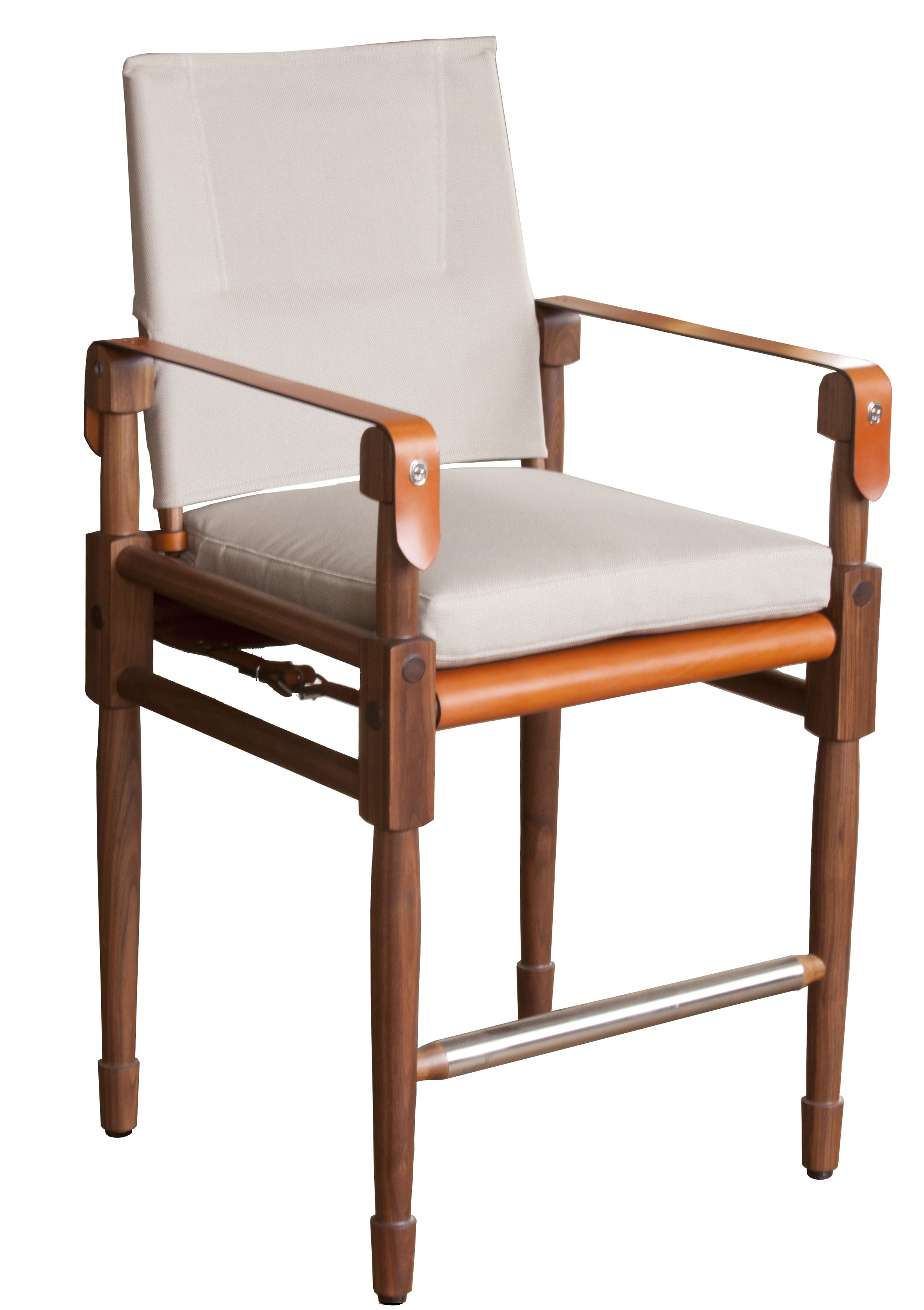 Chatwin Bar Chair with cognac straps and seat sling