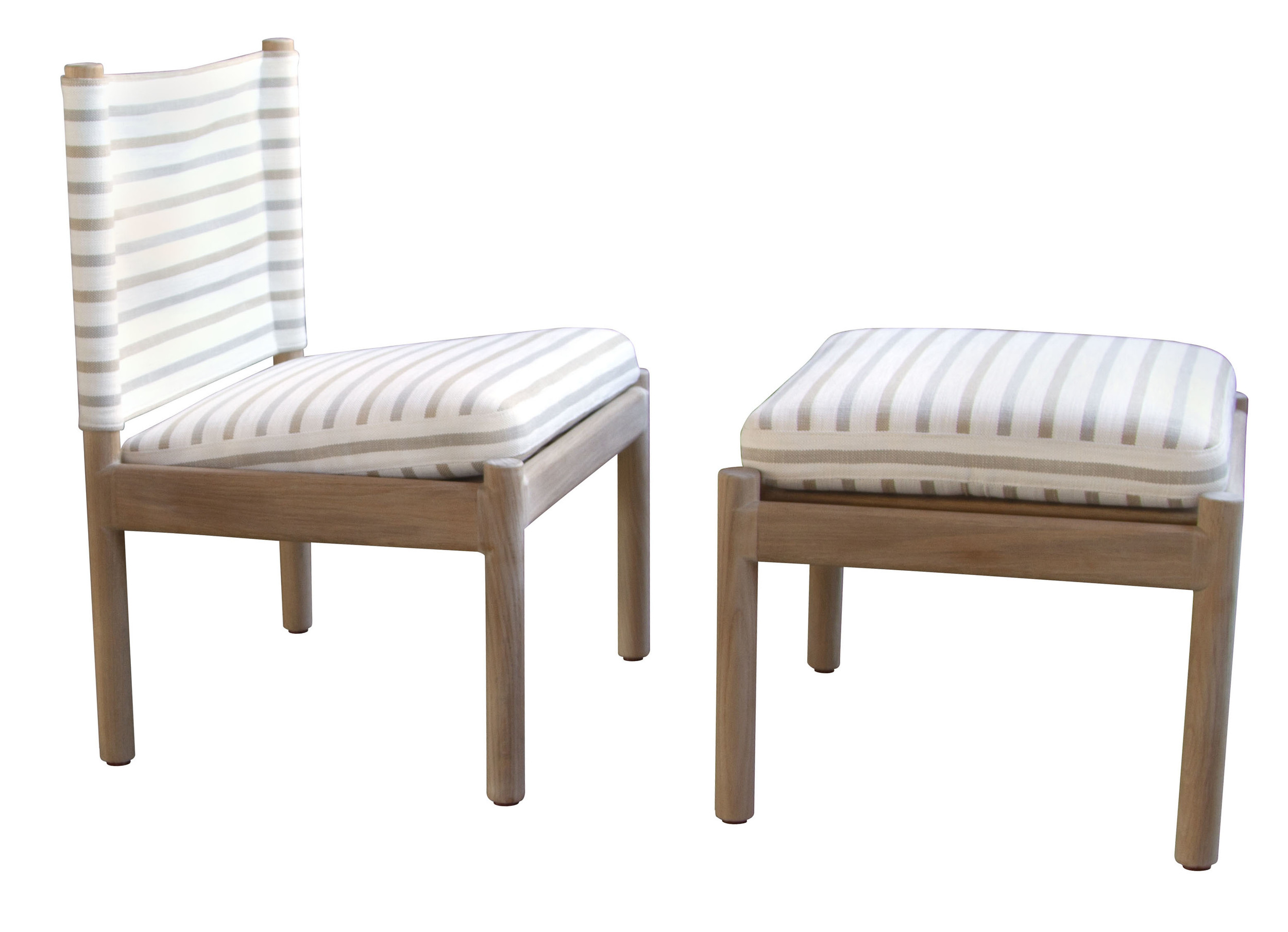 Reed Lounge Chair and Ottoman