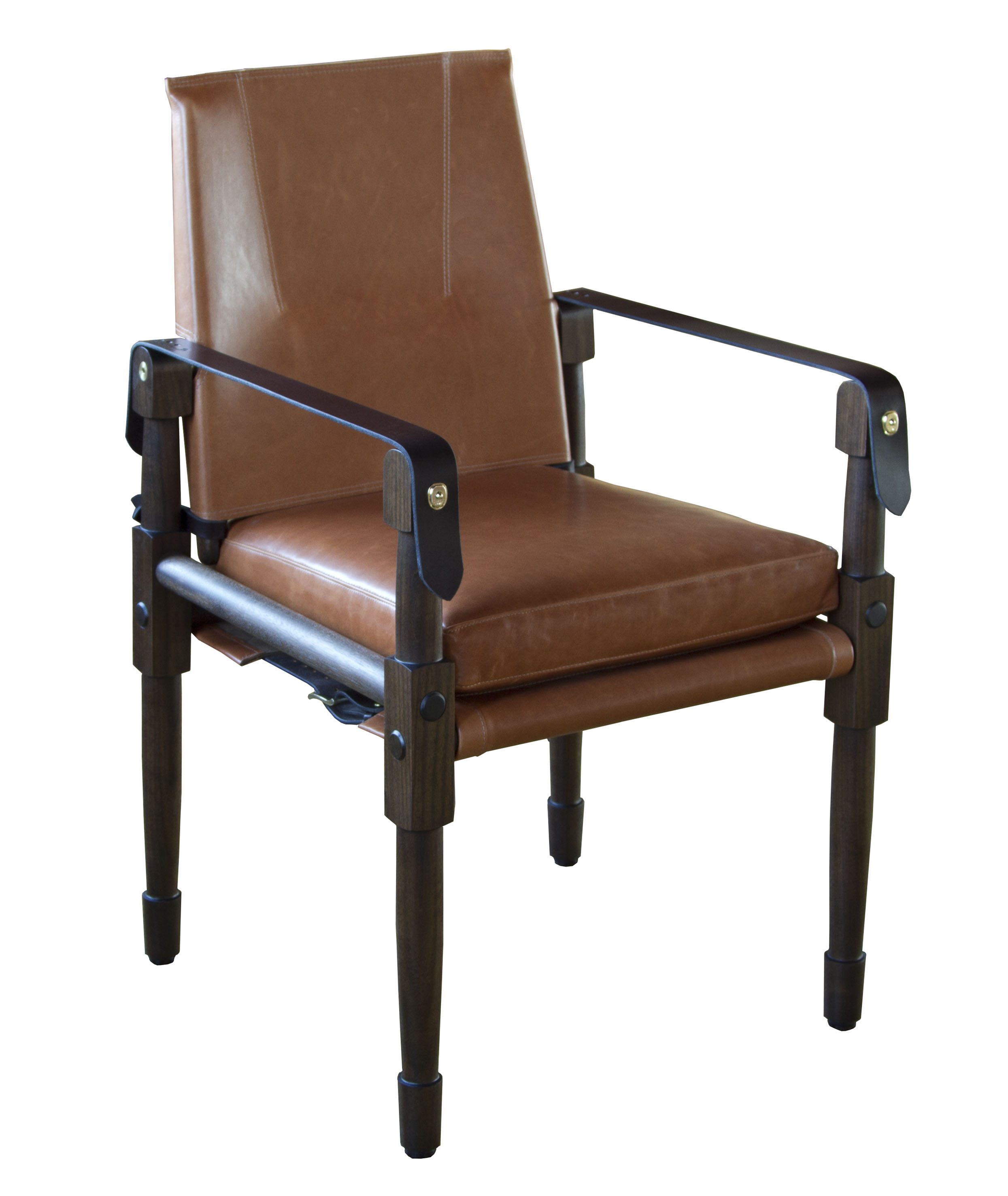 Medium brown white oak with Moore & Giles, Diablo: acorn upholstery leather and dark chocolate English bridle leather straps  08