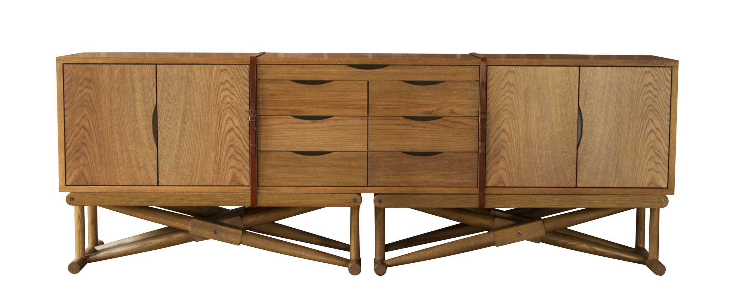 Ingram Console in white oak - fumed and oiled