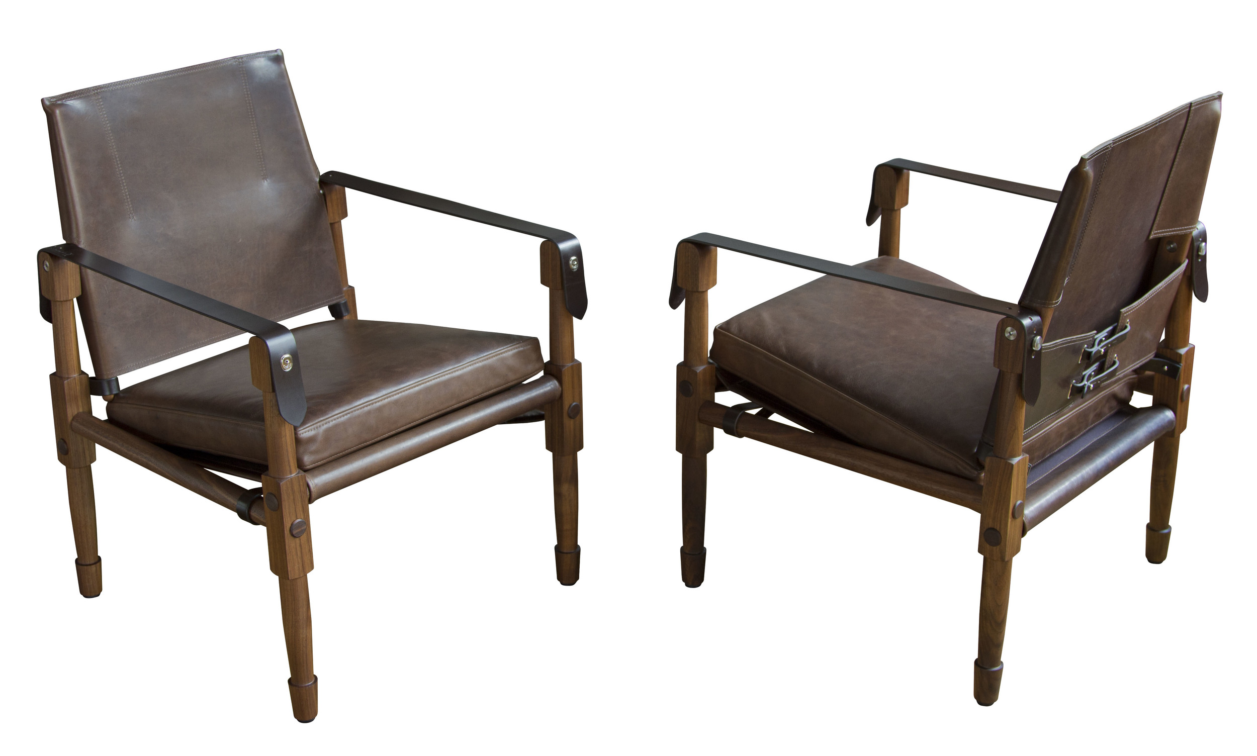 Oiled walnut with Domaine: Brentwood upholstery and dark chocolate English bridle leather  13