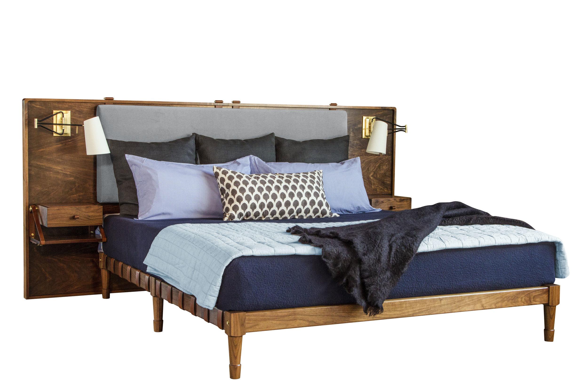 CA King Jasper Bed with Marlton Headboard