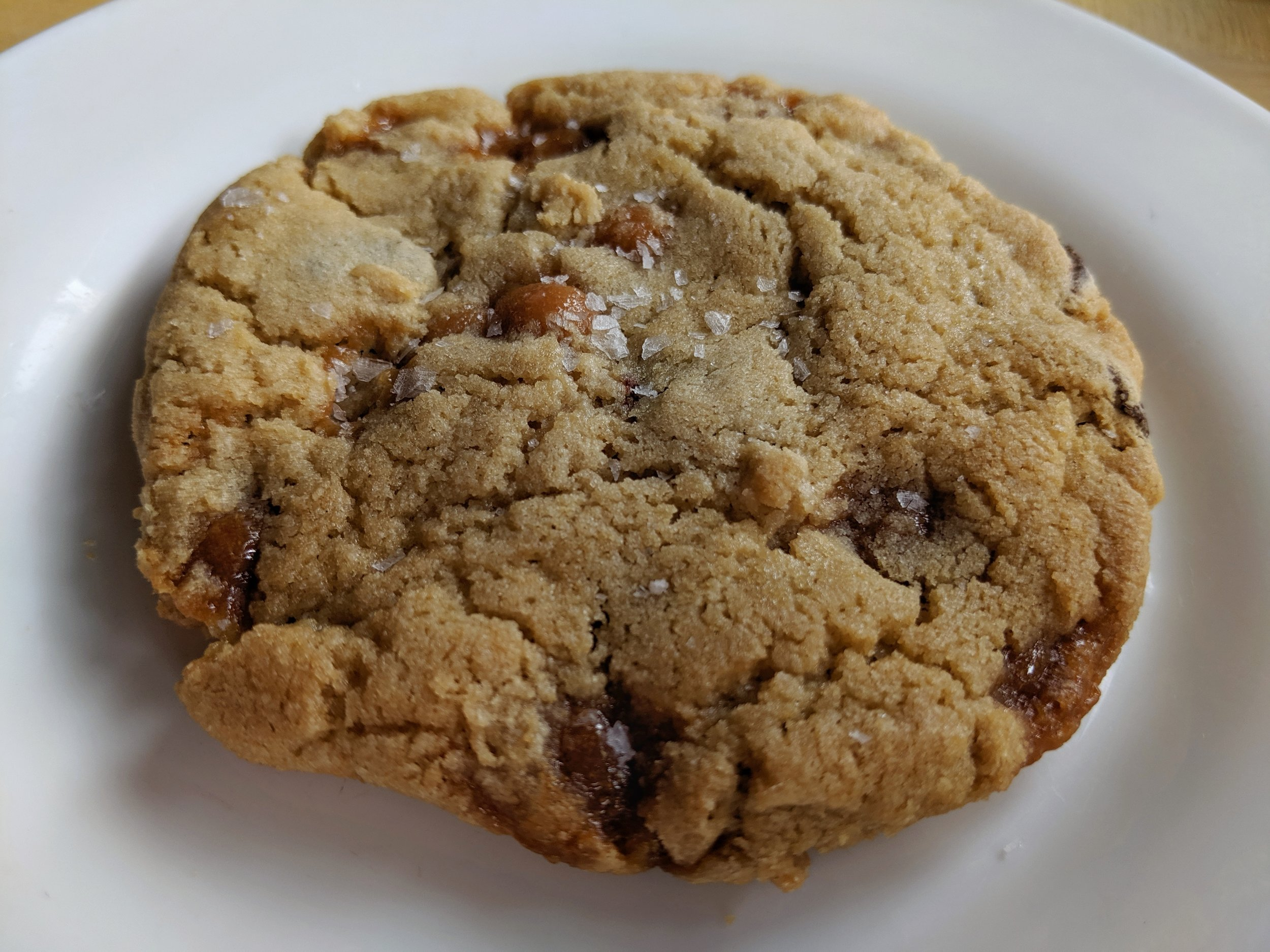 Salted Caramel & Chocolate Chip Cookie from Loaded Dough Cookie Co. (gluten-free!)