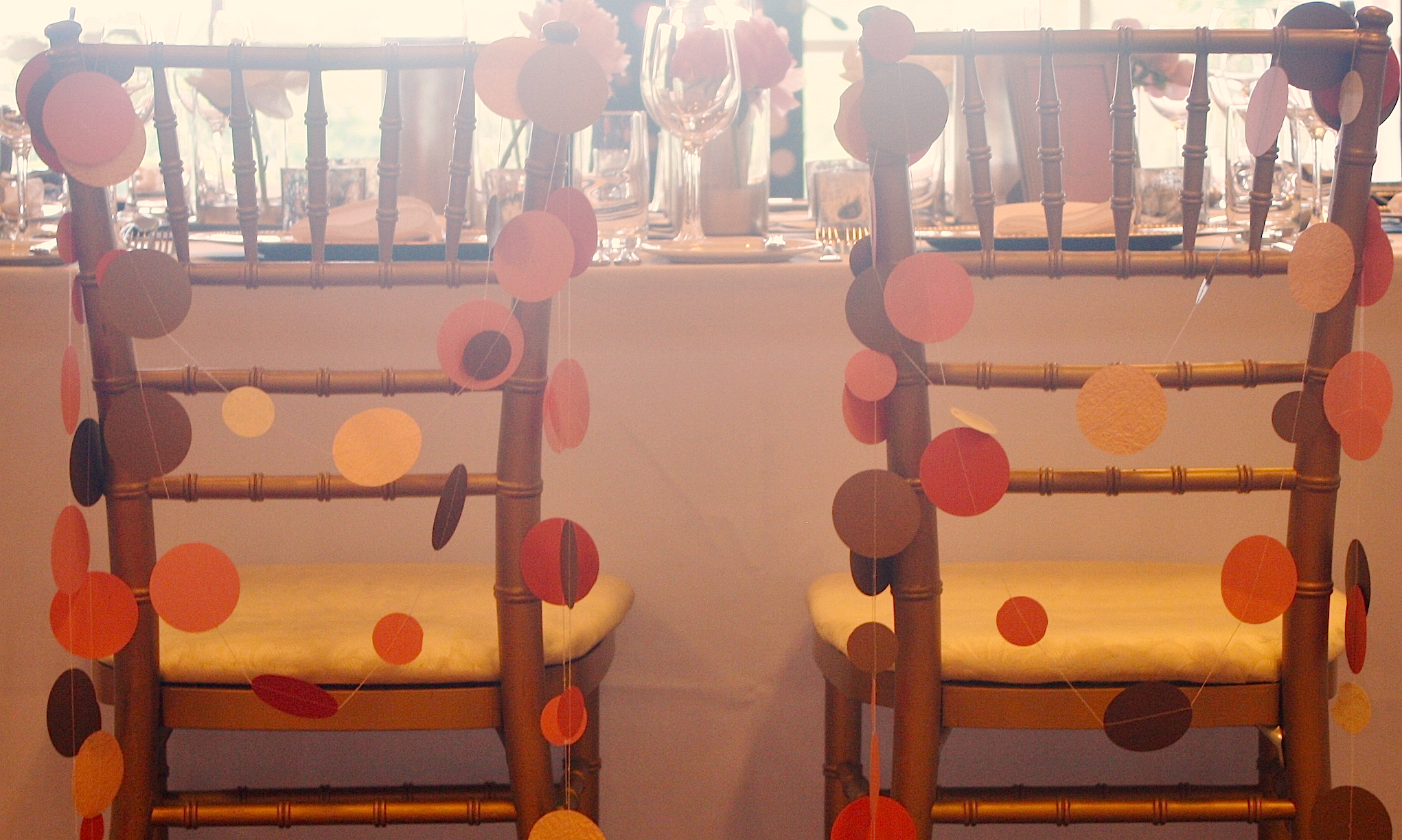 Bride+Groom Chair Garlands