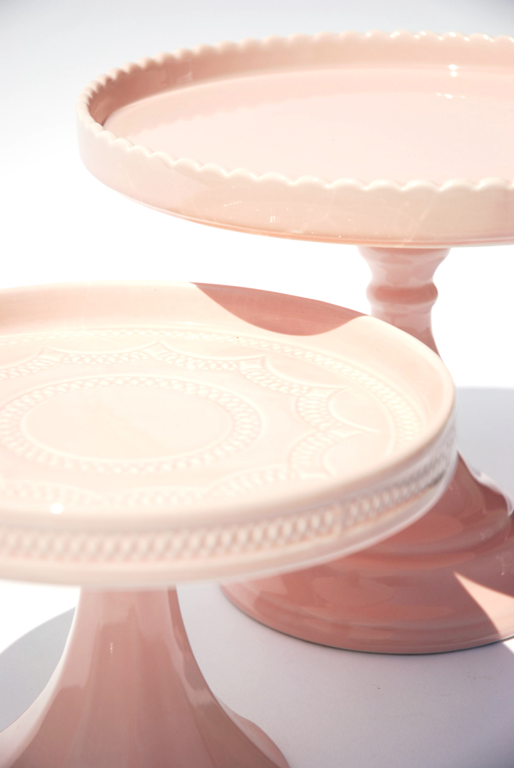 Blush Cake Stands