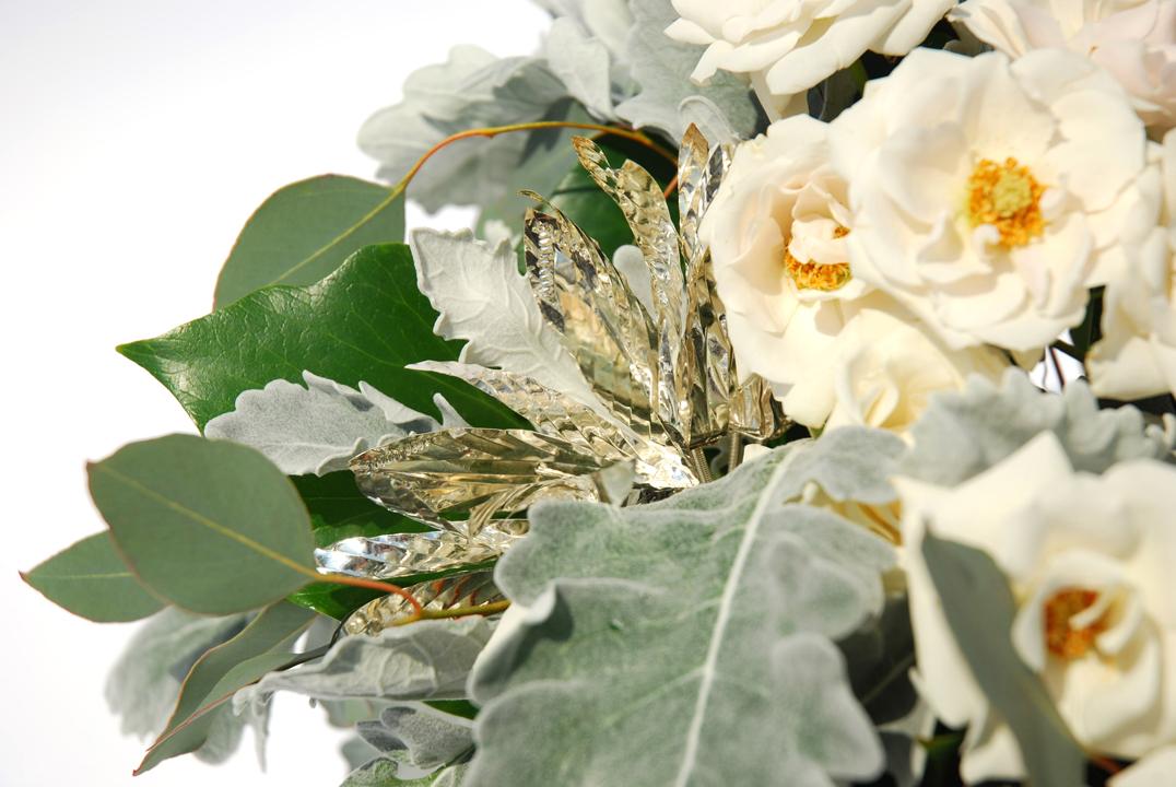 Silver Floral Embellishments