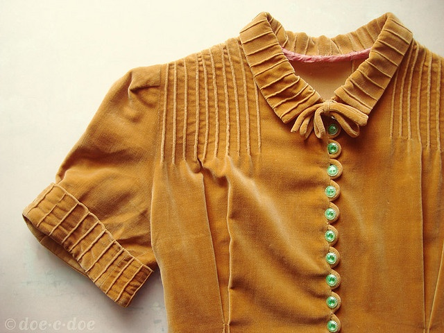 1930-40 年代天鵝絨洋裝