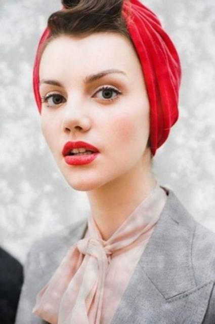 復古頭巾造型