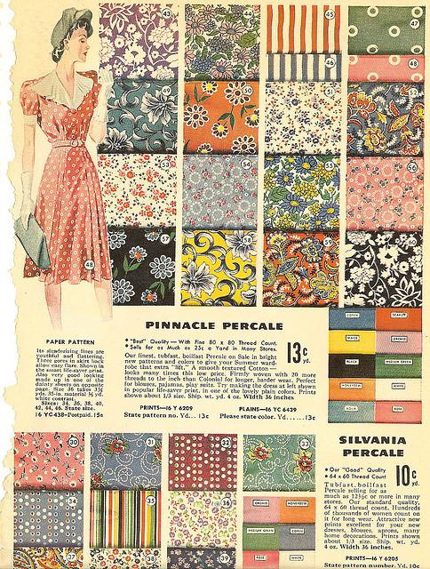 1940 年代布料廣告